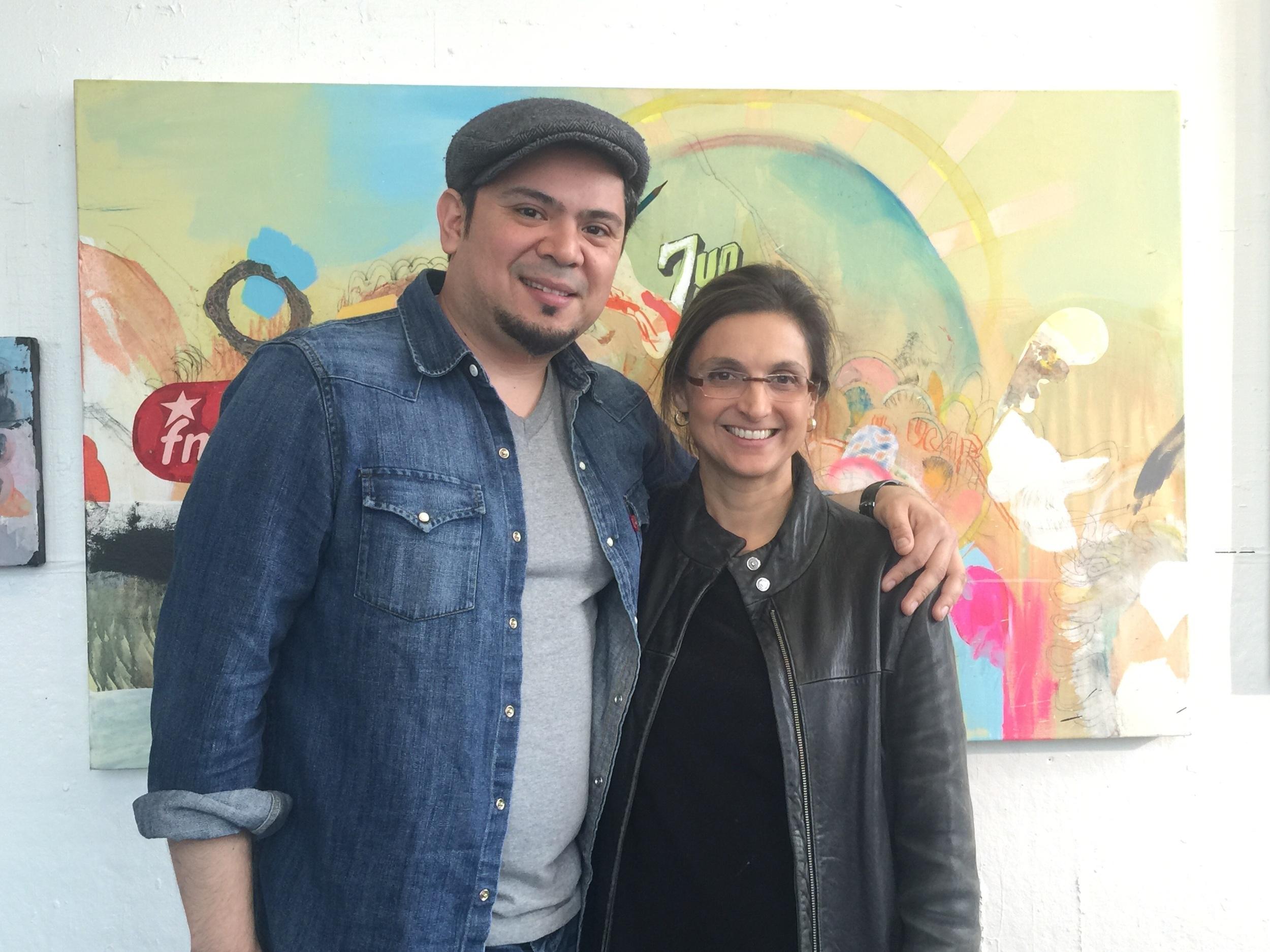 Artist Josué Rojas (me) and Dr. Ana Maria Reyes