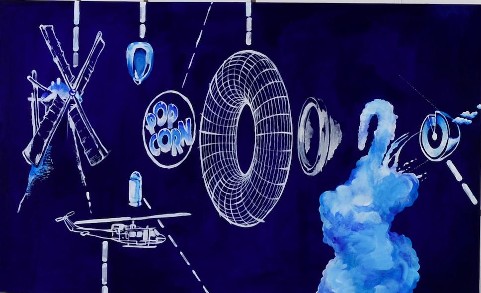 """The Transgression Machine"" 2015  Acrylic on Canvas  60""X30"""