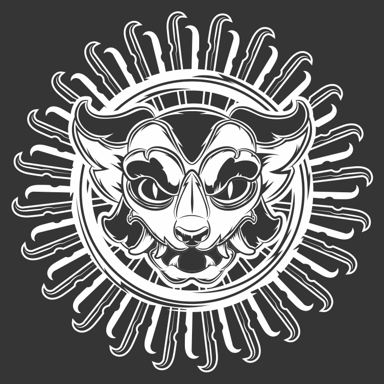 Feral Oni Mask Vector