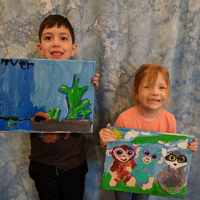 Spring Break Family Open Studio Painting!