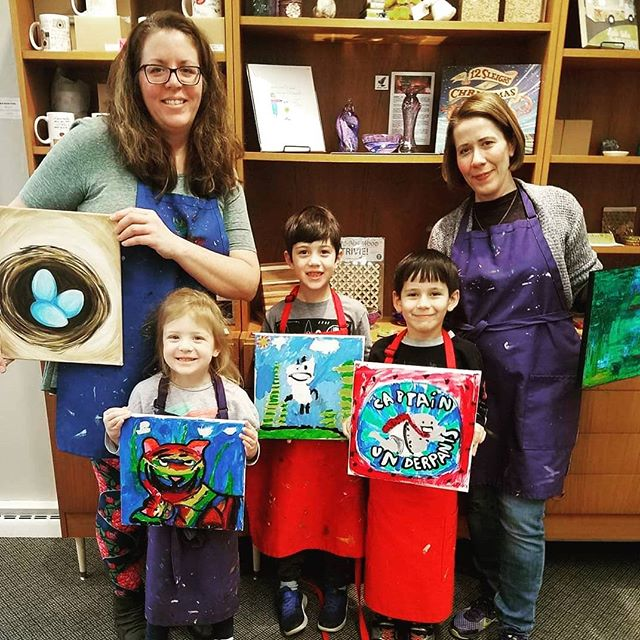 FAMILY FRIENDLY OPEN STUDIO PAINTING! Join us Saturday, April 27th at 6:30PM. #unplug and have some fun! Tickets/details- link in bio