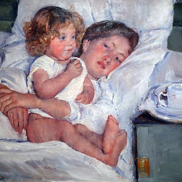 Happy Mother's Day! ❤ 'Breakfast in Bed' - Mary Cassatt 1897 oil on canvas, Huntington Library #mothersday #marycassatt #artlife #artlifelombard