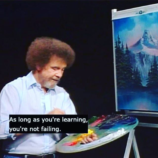 I have finalized a lot of big decisions this past month that have been weighing on me for a long time. I feel so much better and now it's finally time to get creating again! #staytuned #onwardandupward #workingstudio #bobross #process #necessaryendings #newbeginnings #artlife #artlifelombard