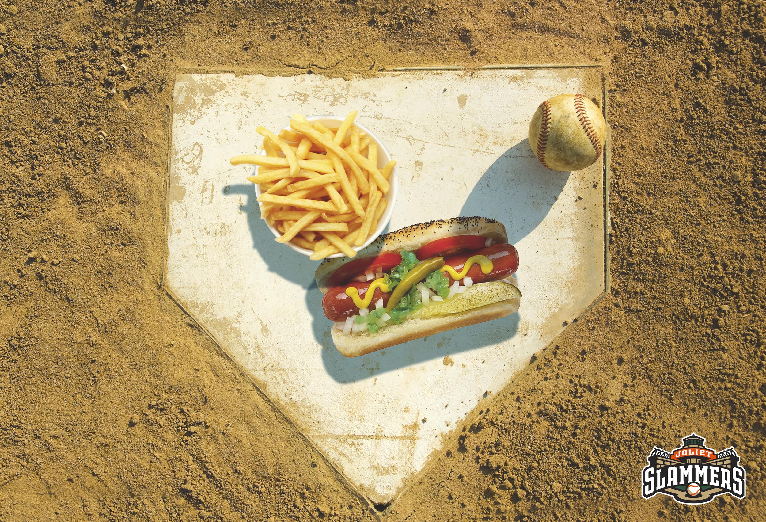 Home Plate concession area conceptual poster design.
