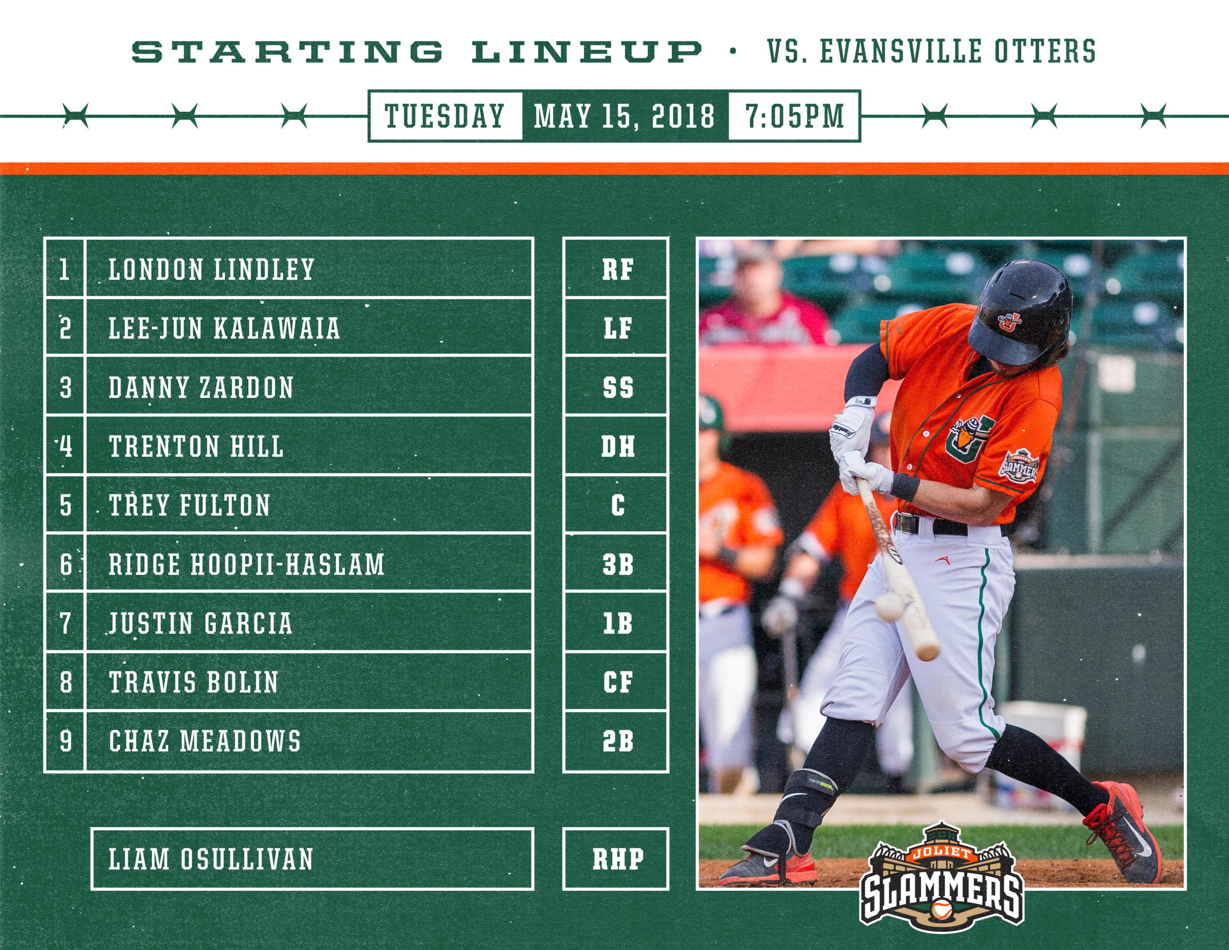 Starting Lineup graphic for social media.