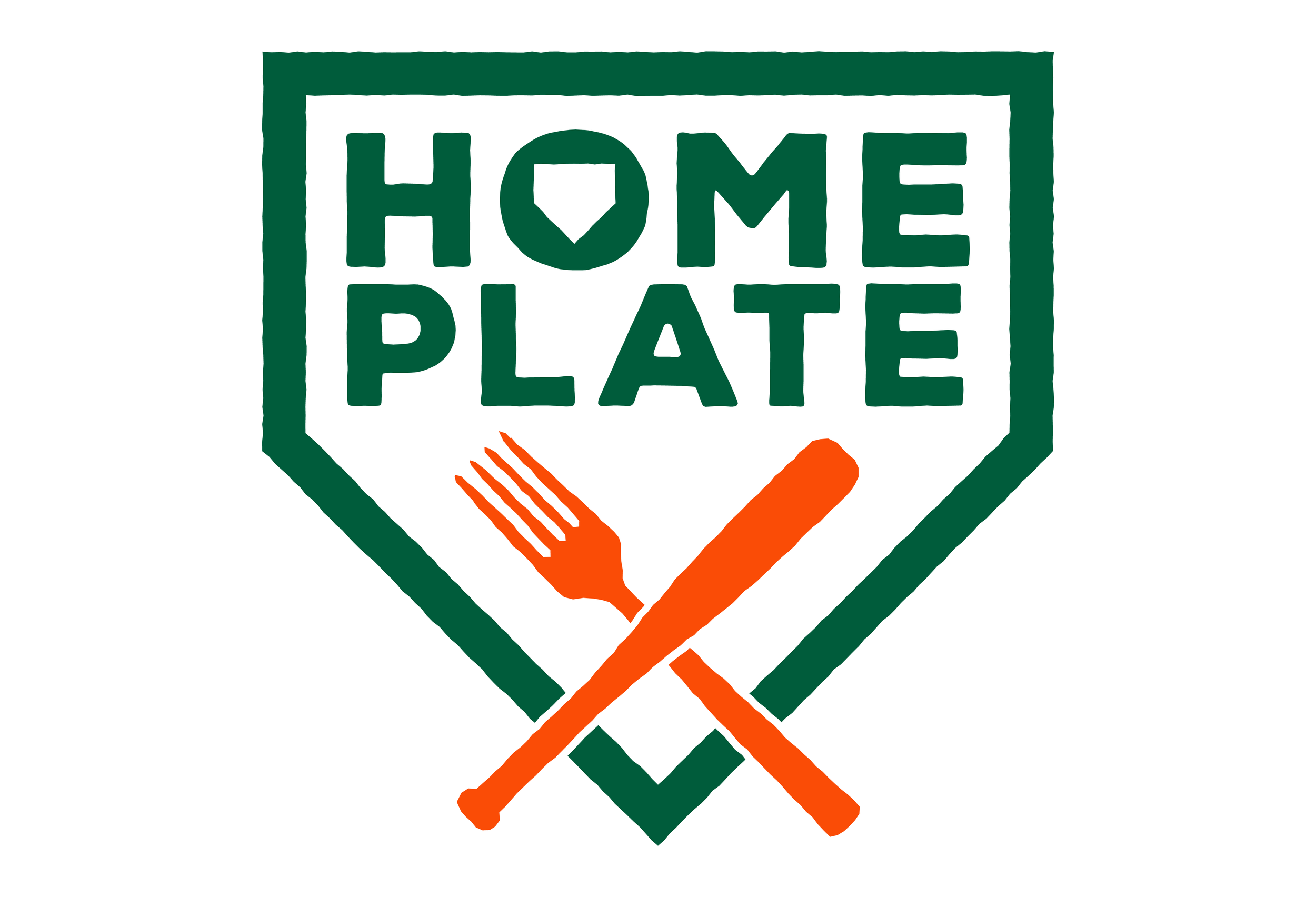 Home Plate concession area logo for food stand.