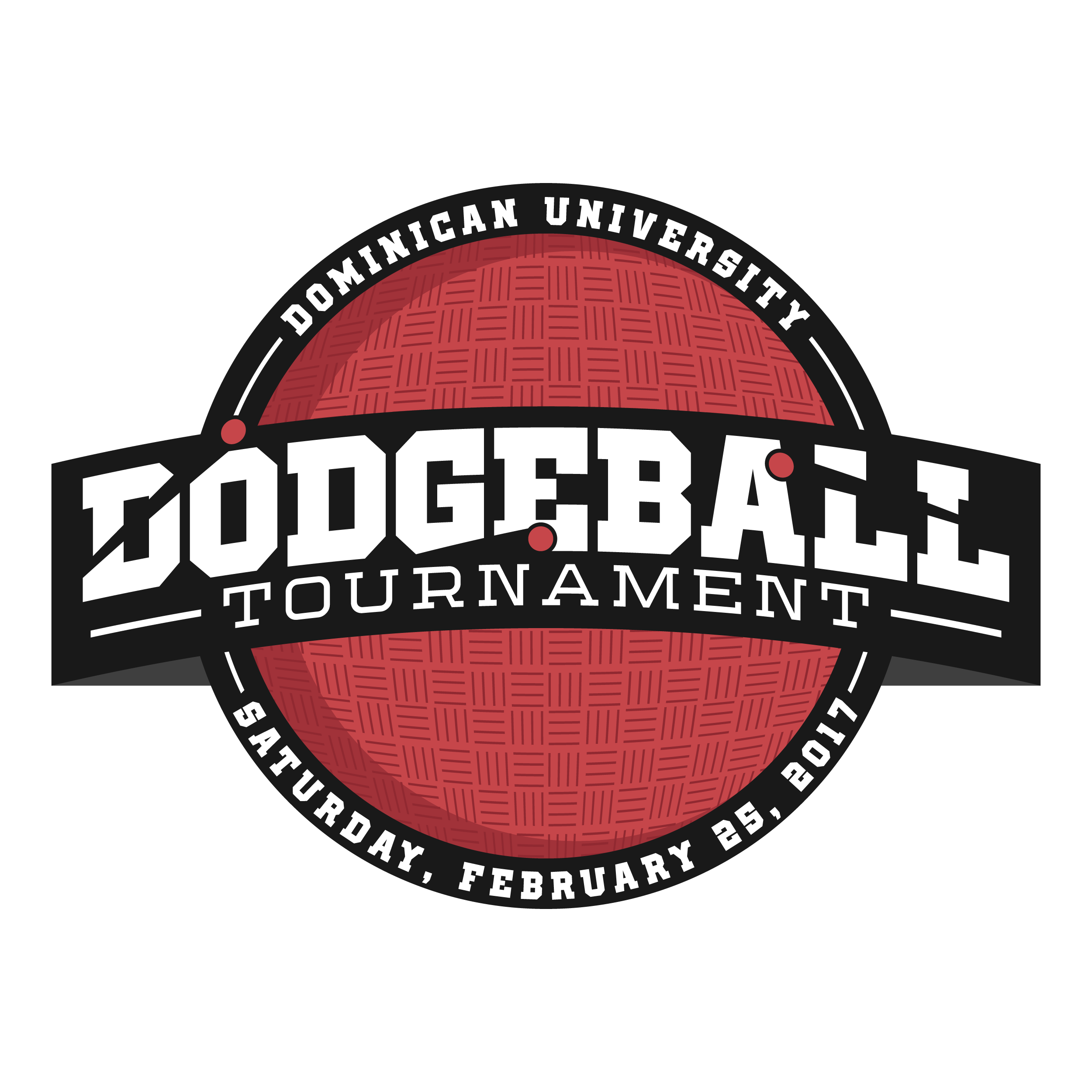 Dodgeball logo for annual on-campus tournament.