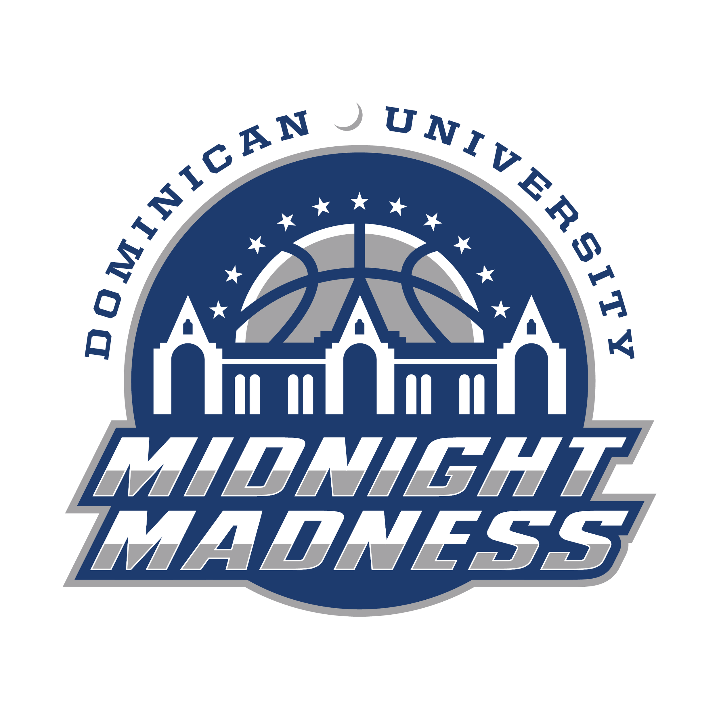 Midnight Madness logo created to promote the event that kicks off the college basketball season every year.
