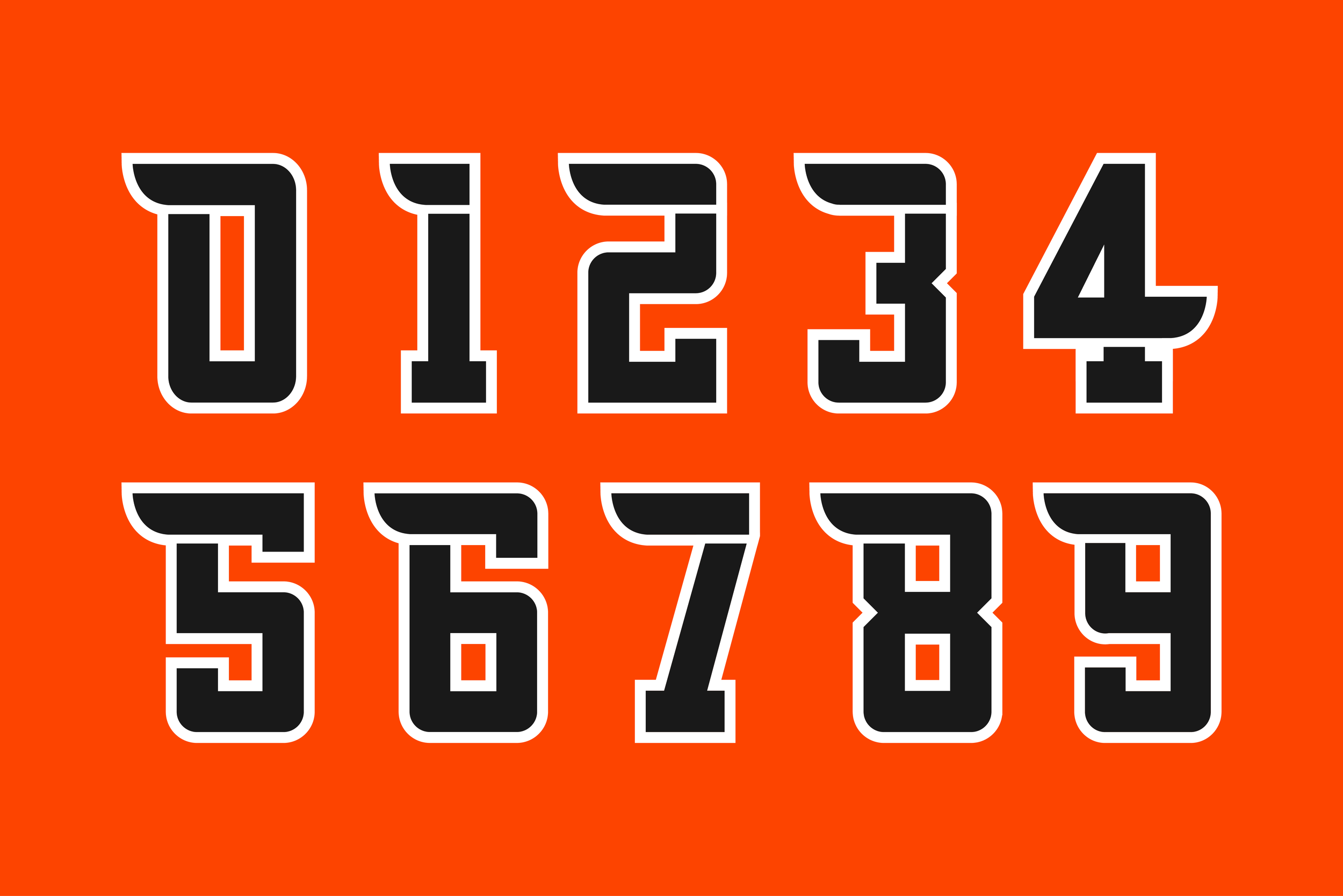 Custom font designed for Sport Talk Philly's Flyerdelphia. Numbers created based off the identity of the city's professional hockey team.