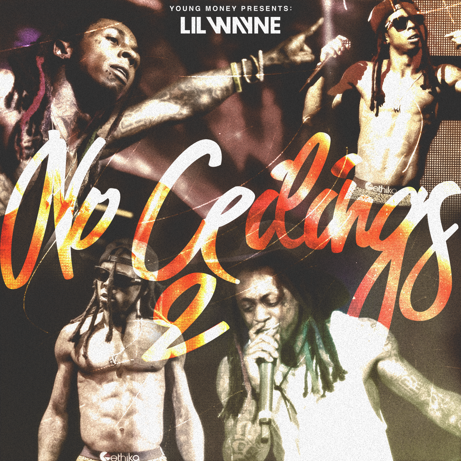 "UNUSED front cover artwork for Lil Wayne's 2015 mixtape ""No Ceilings 2"". Cover inspired by Lil Wayne's initial ""No Ceilings"" project released in 2009 featuring photos of live preformances."