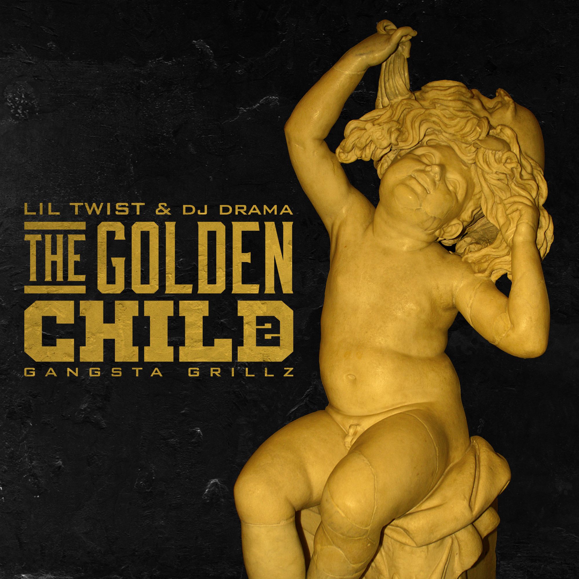 "UNUSED logo design + mixtape cover for Lil Twist's The Golden Child 2. Logo includes a ""2"" in negative space of the ""D"". Direction via Young Money Ent."