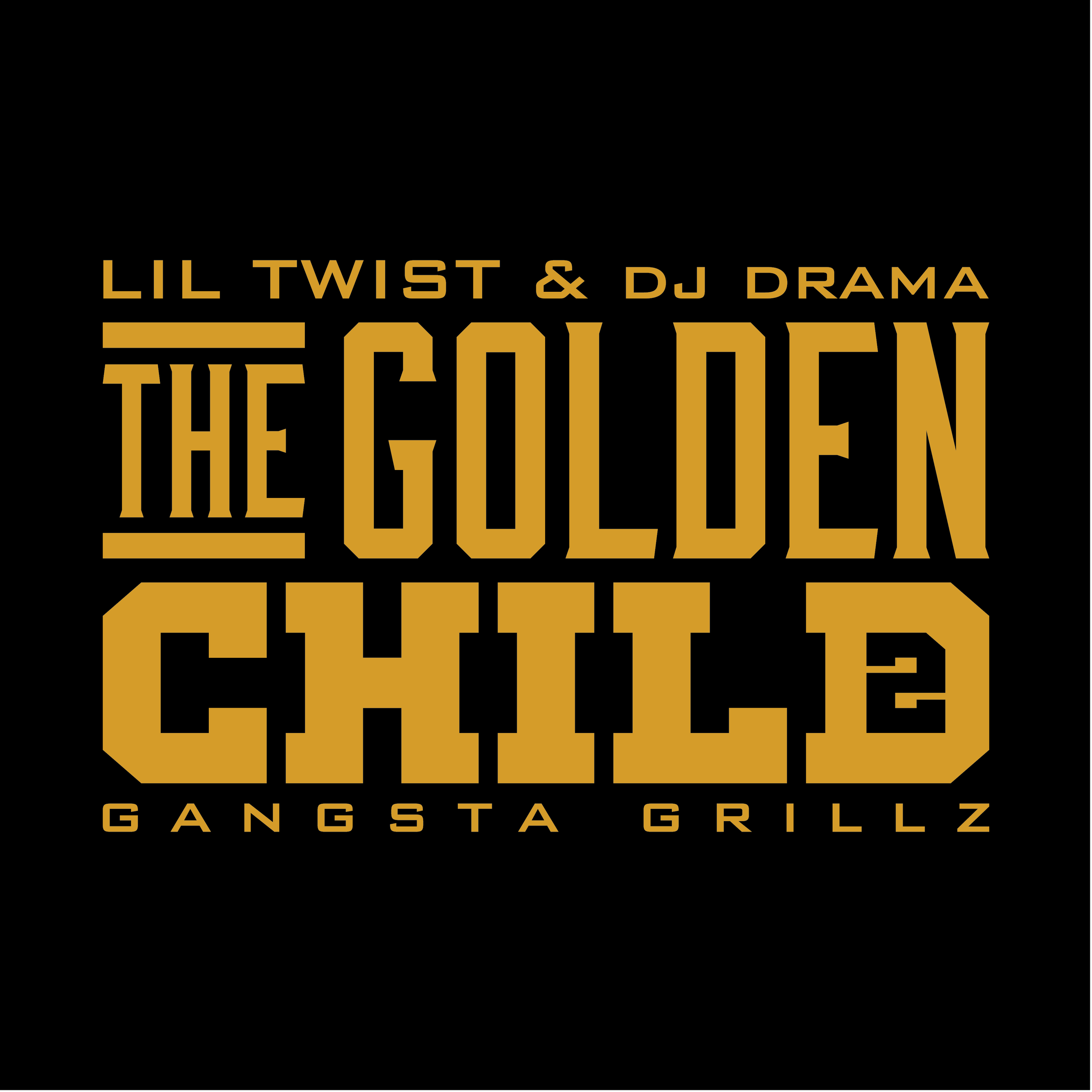 "UNUSED logo design + mixtape cover for Lil Twist's The Golden Child 2. Logo includes a ""2"" in negative space of the ""D""."