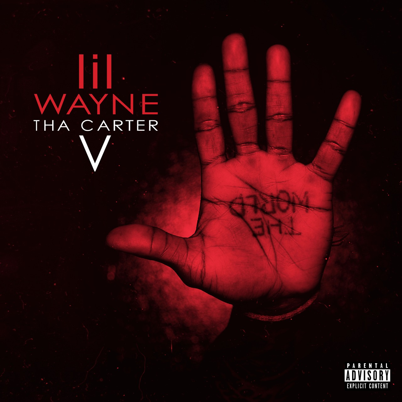 "Promotional cover artwork used by Young Money to advertise the release of Lil Wayne's ""Tha Carter V""."