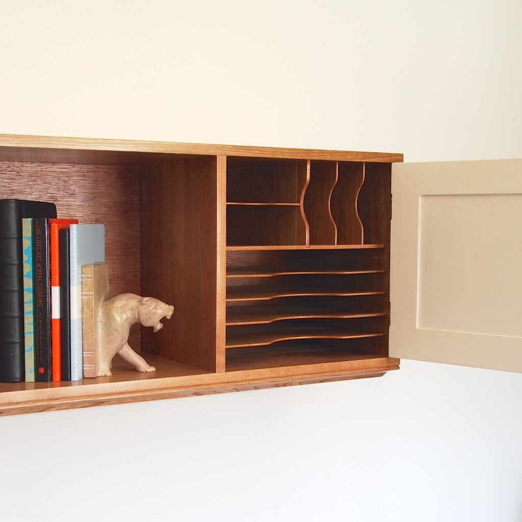 Wall Mounted Cabinet, Mailboxes, Paper Trays and Desk Light