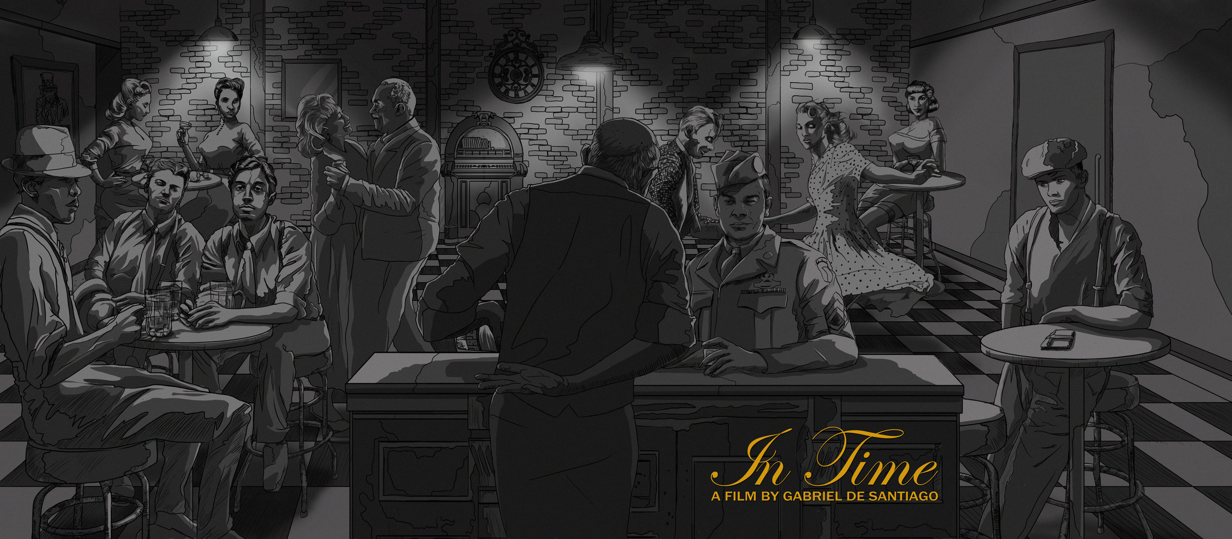 """Key Concept piece for the short film """" In Time"""",  Written and Directed by Gabriel De Santiago.  Original artwork by  Jonathan B Perez ©"""