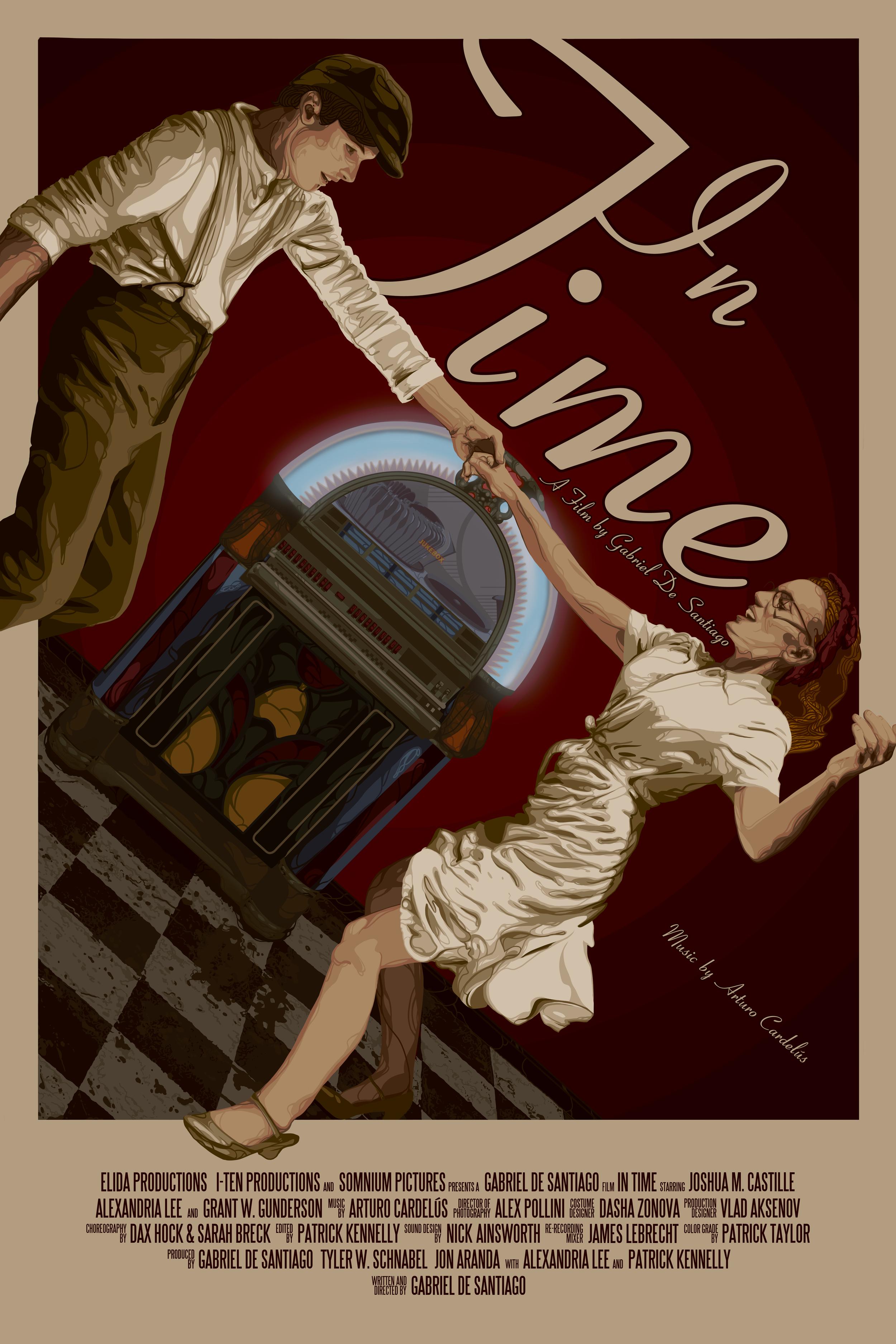 "Regular One Sheet for ""In Time"" (Short Film) 2019. A film by Gabriel De Santiago  Original artwork by  Jonathan B Perez ©"