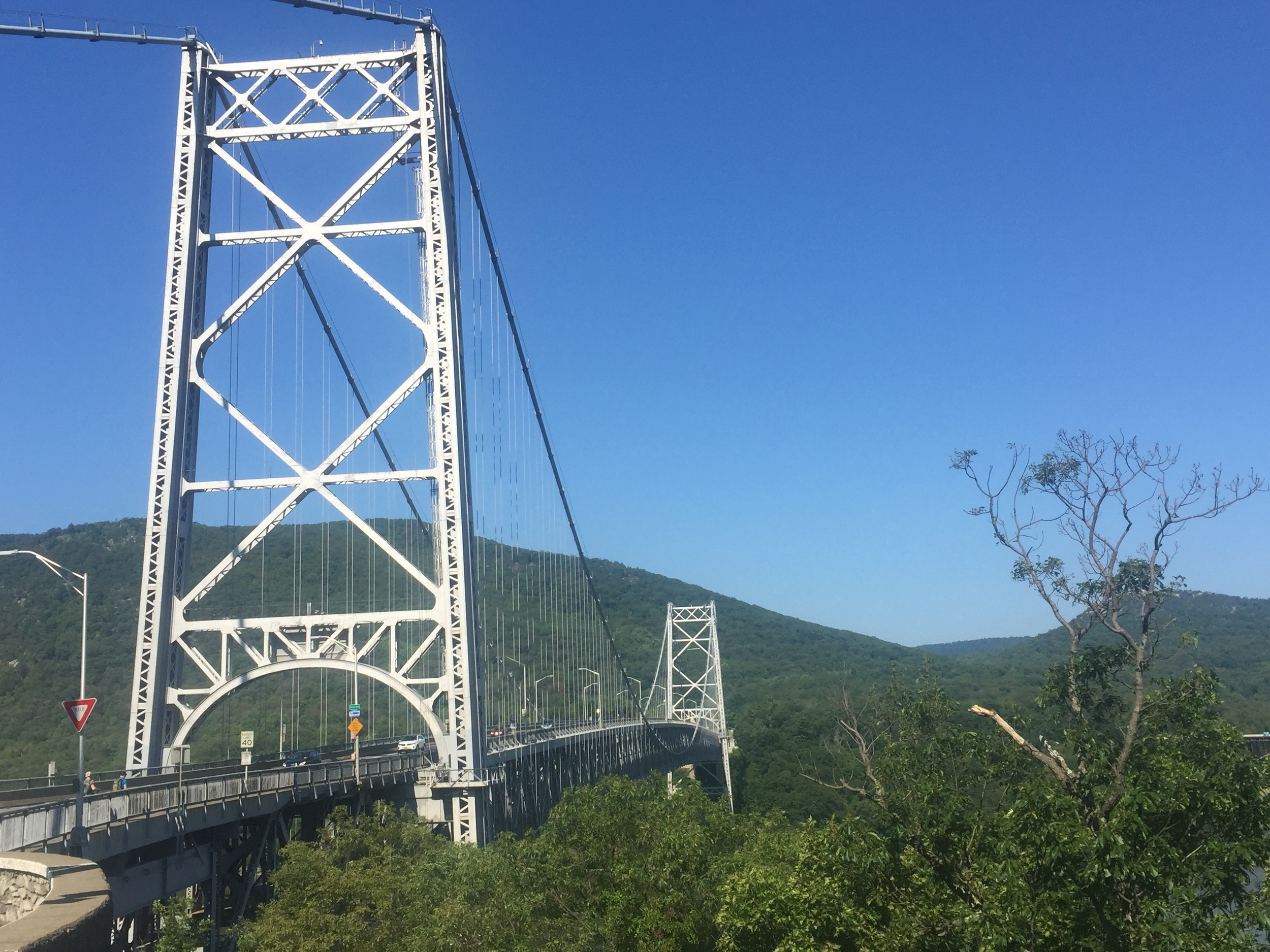 Bear Mountain Bridge over the Hudson River