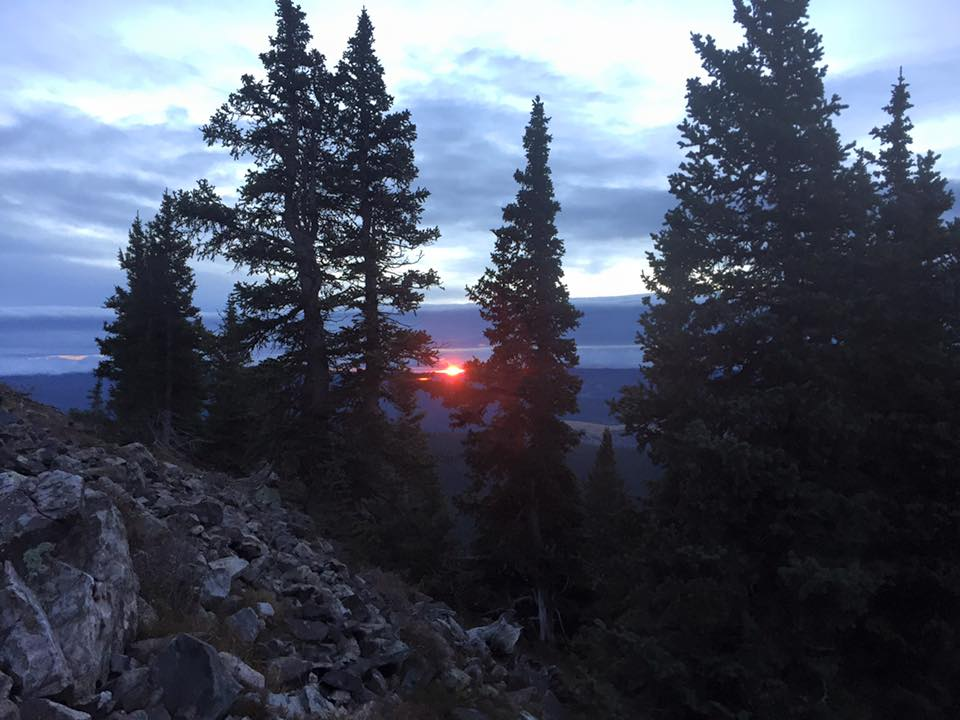 Sunrise in the Santa Fe National Forest