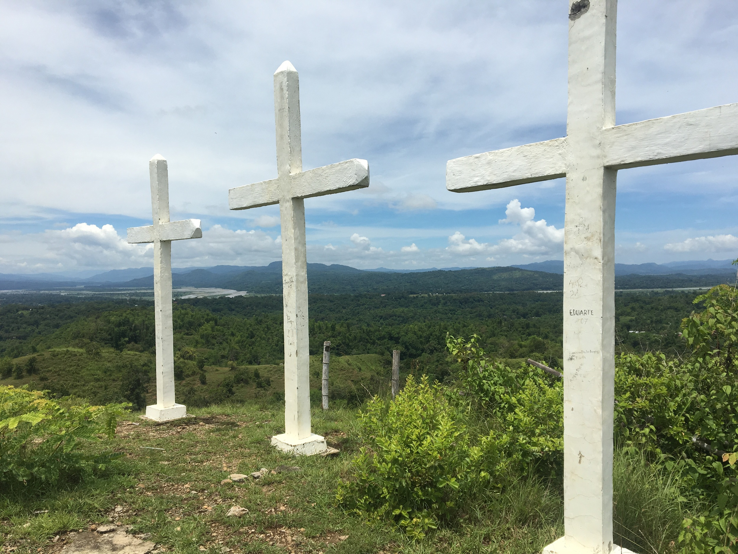 A beautiful nearby hike to the top of this mountain with three crosses.