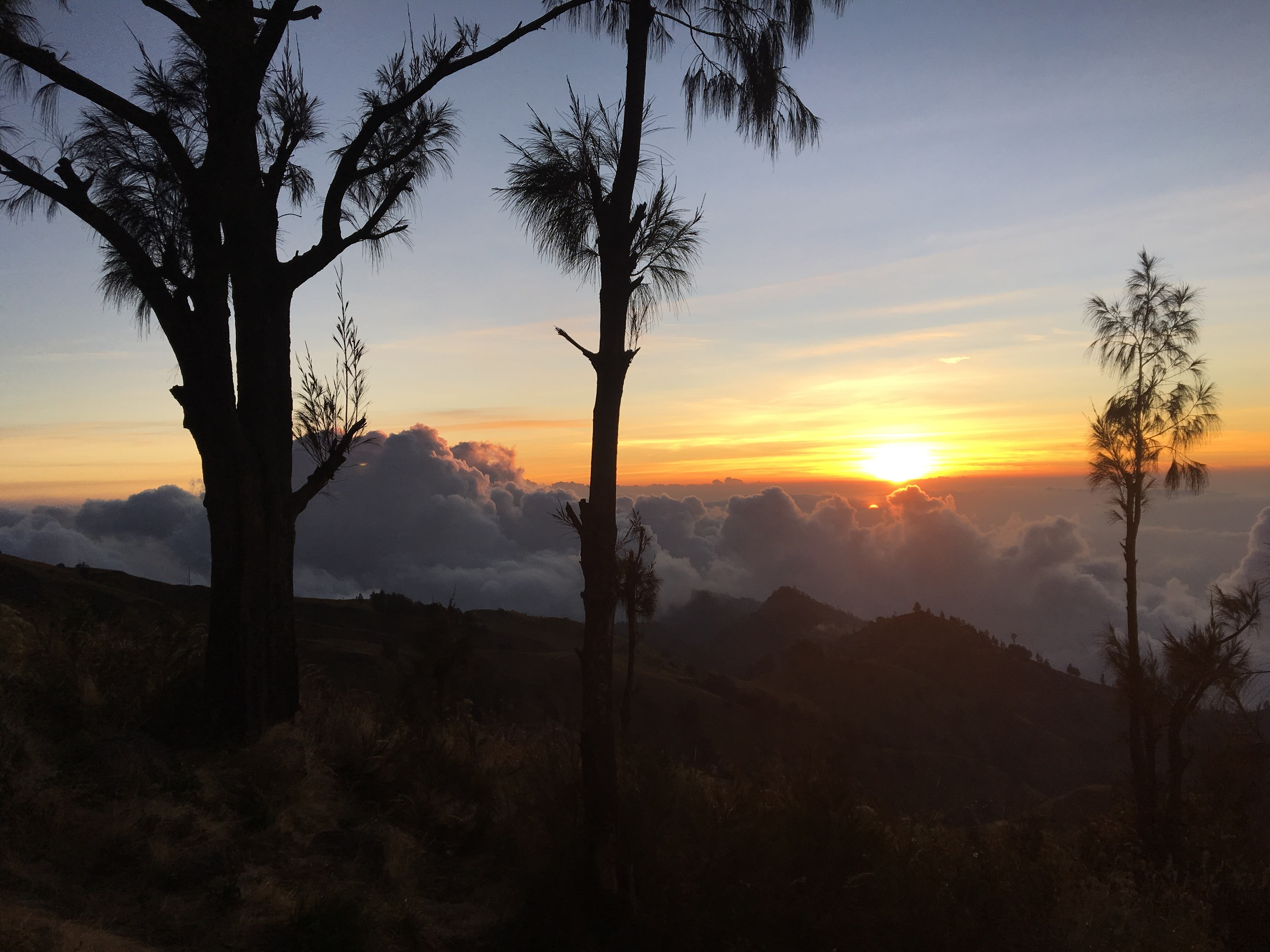 Sunset on the first night up on Rinjani