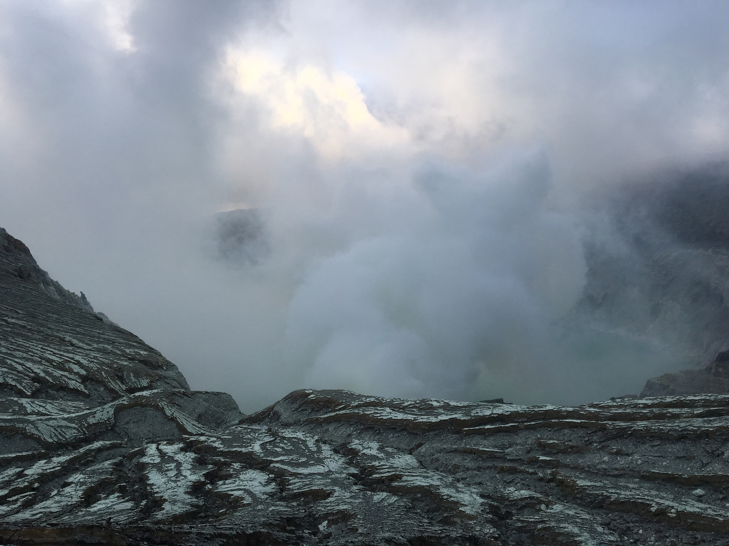 Hiking around the crater