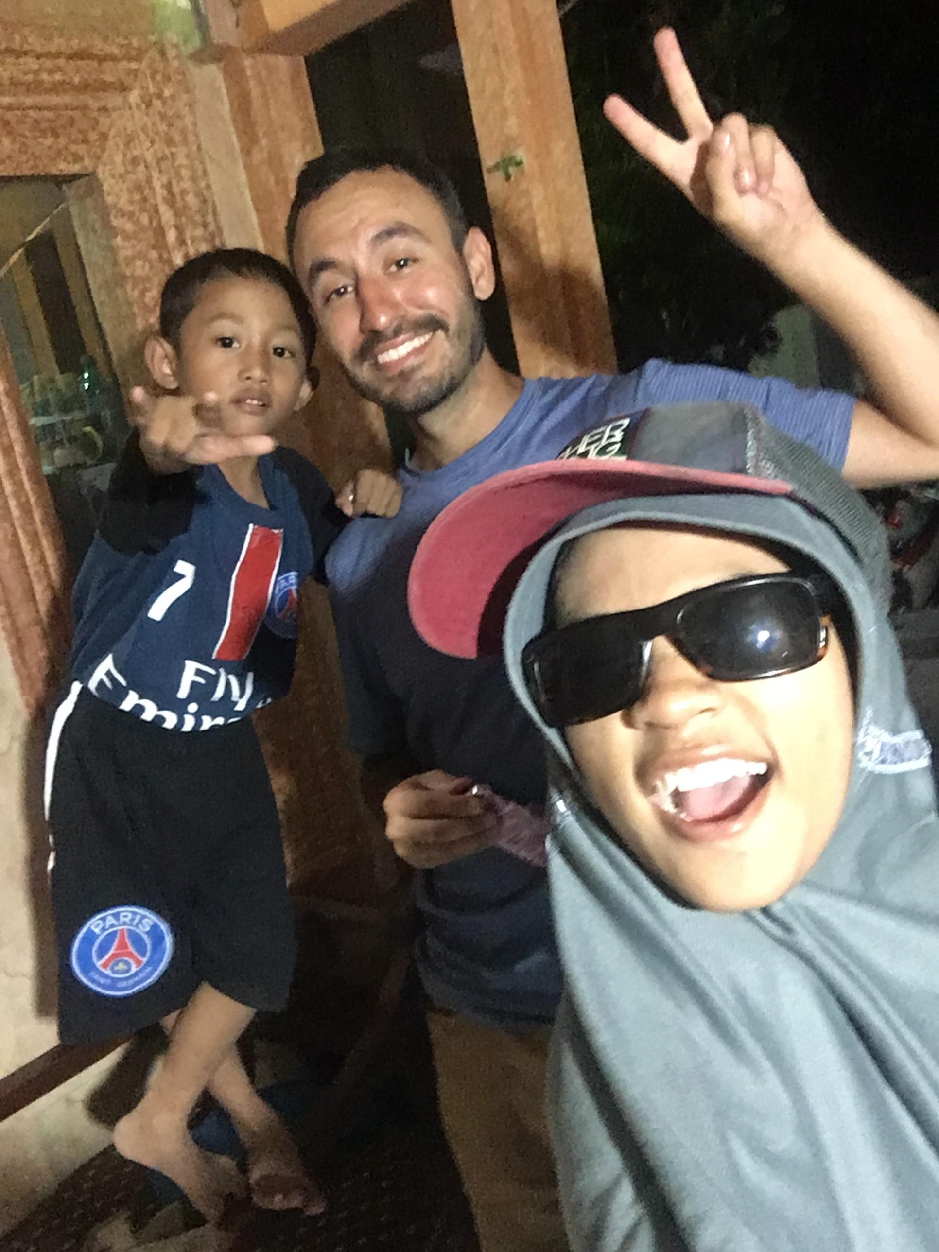 Silvia, Rasya, and I