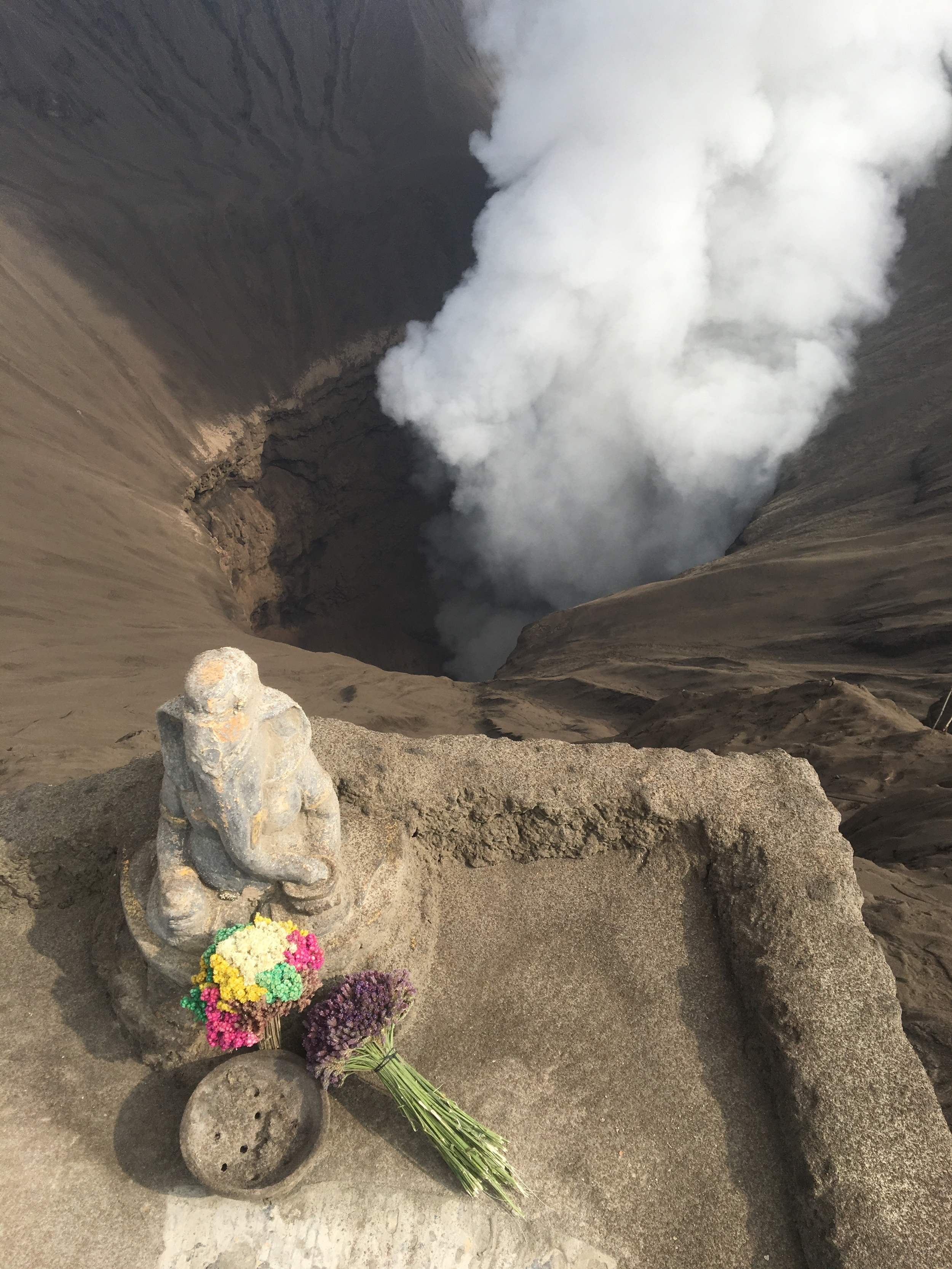 An offering to the sacred volcano