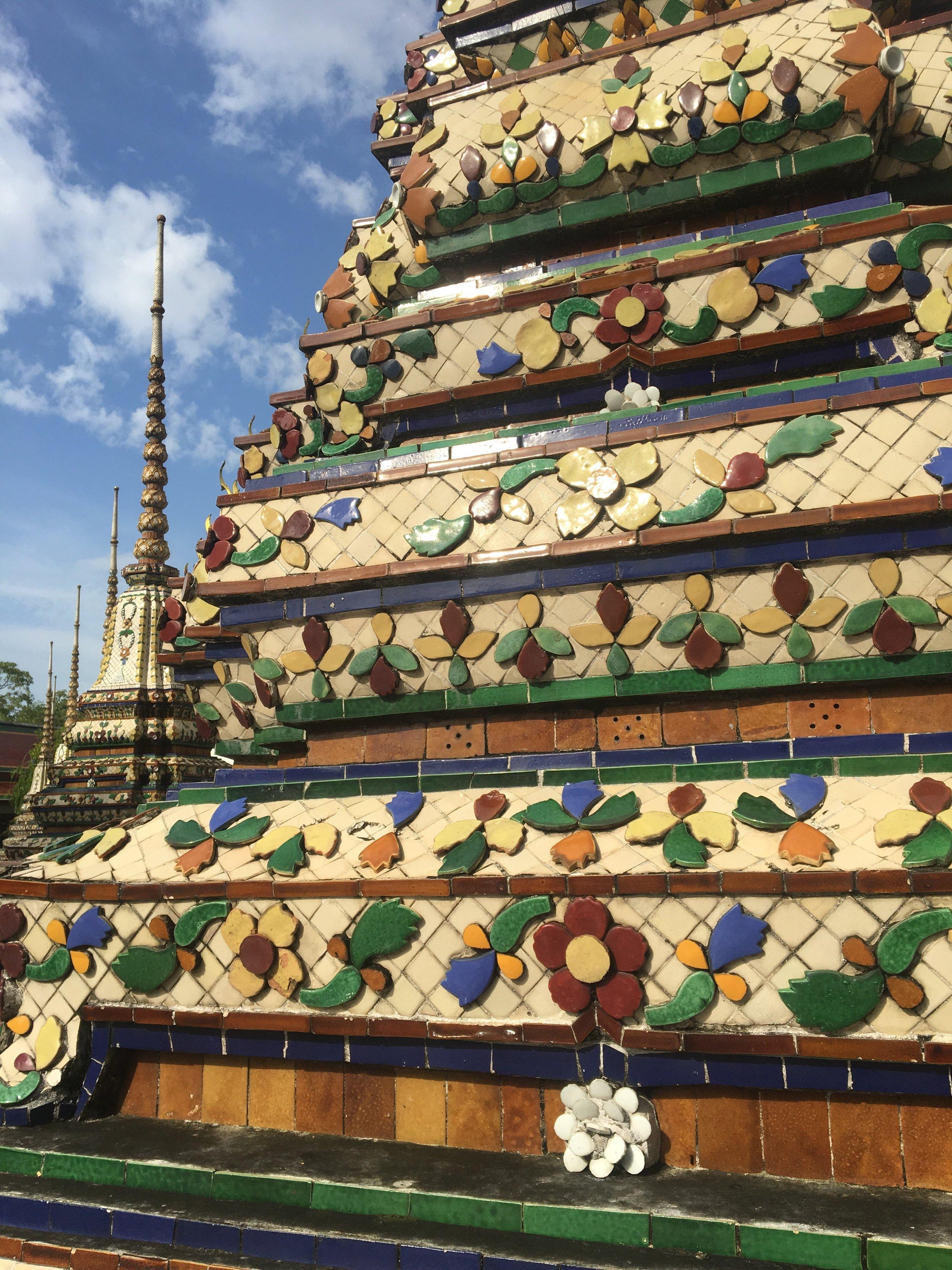 Temple complex at Wat Pho in Bangkok
