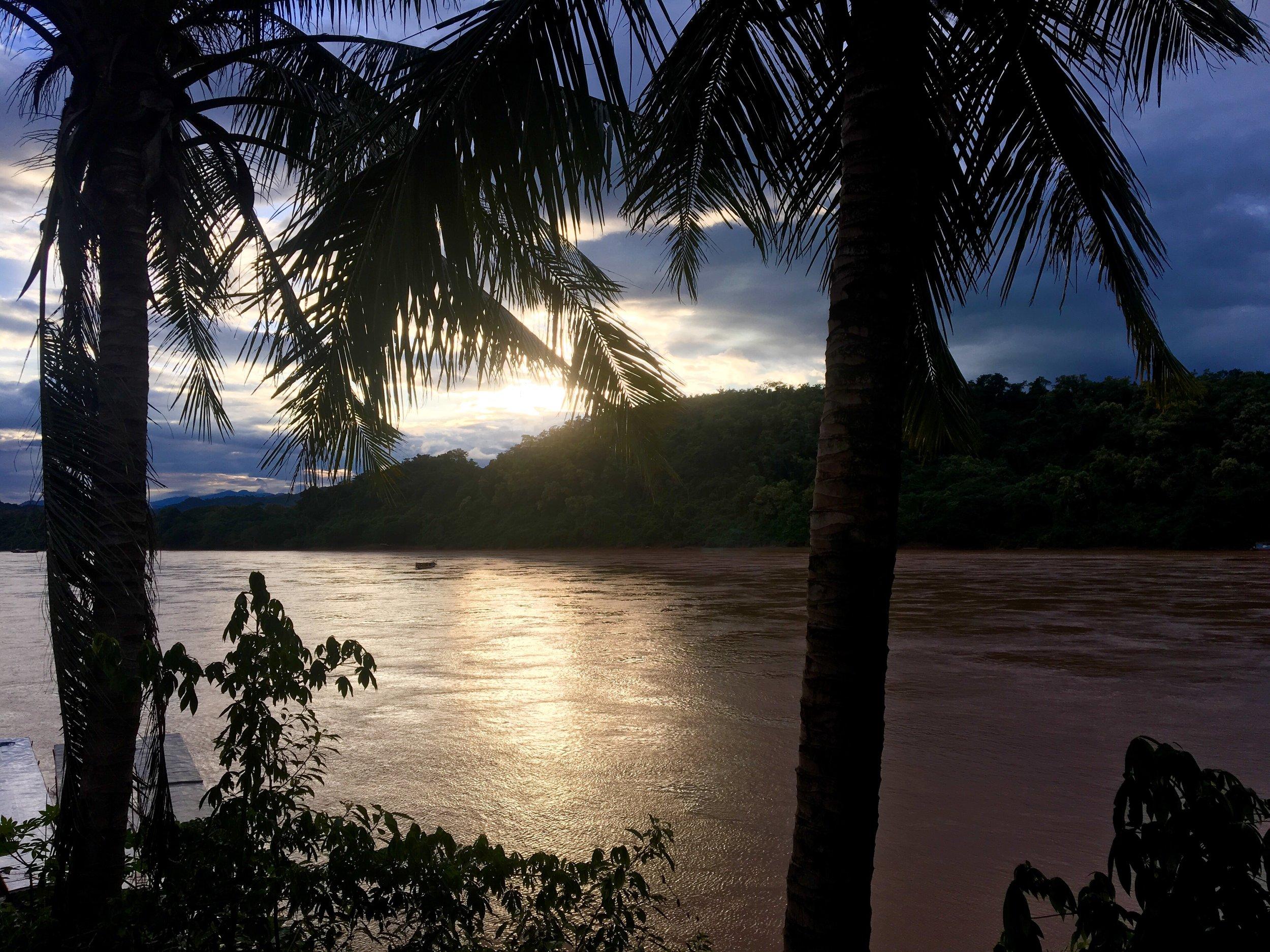 First night's sunset in Luang Prabang