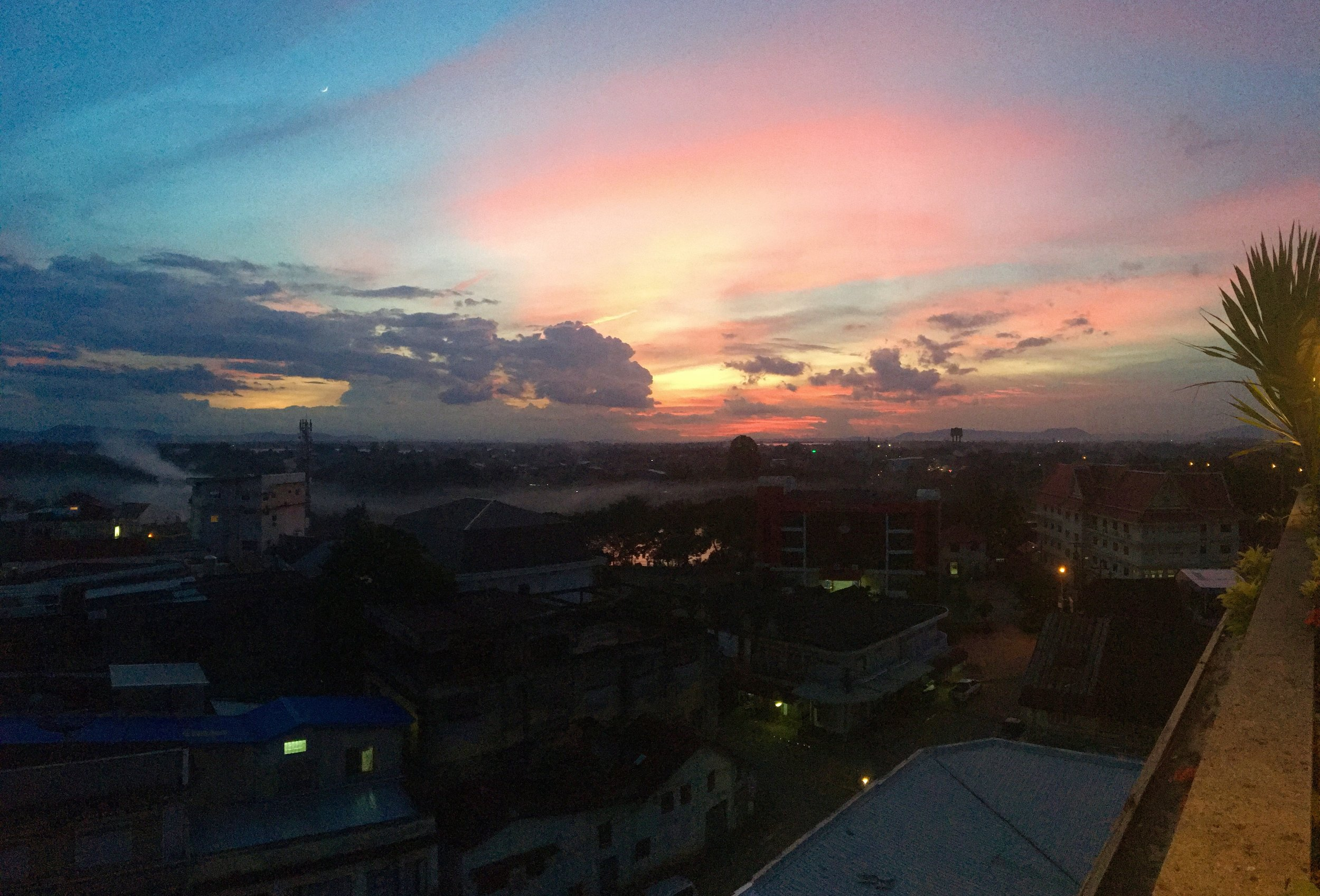 View from on top of Hotel Pakse