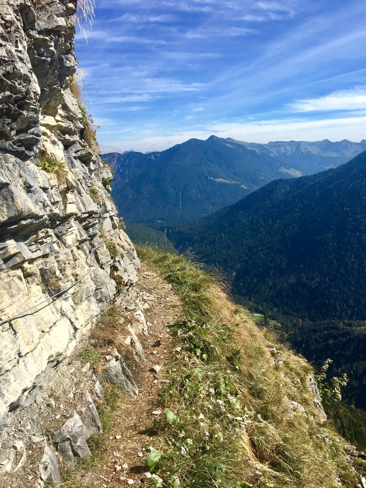A beautiful trail through the Alps