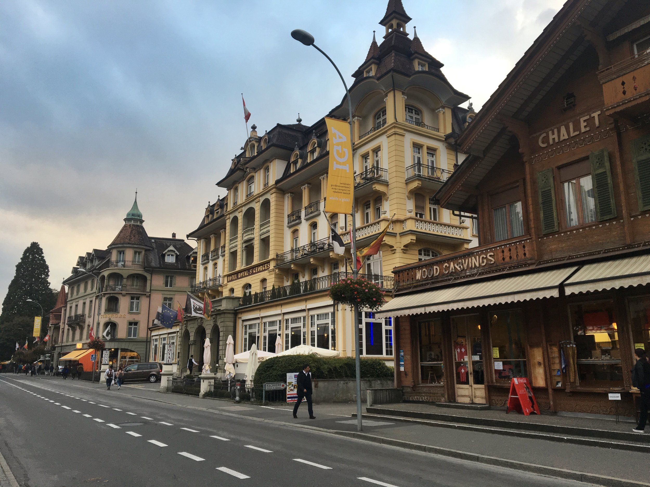 The streets of Interlaken