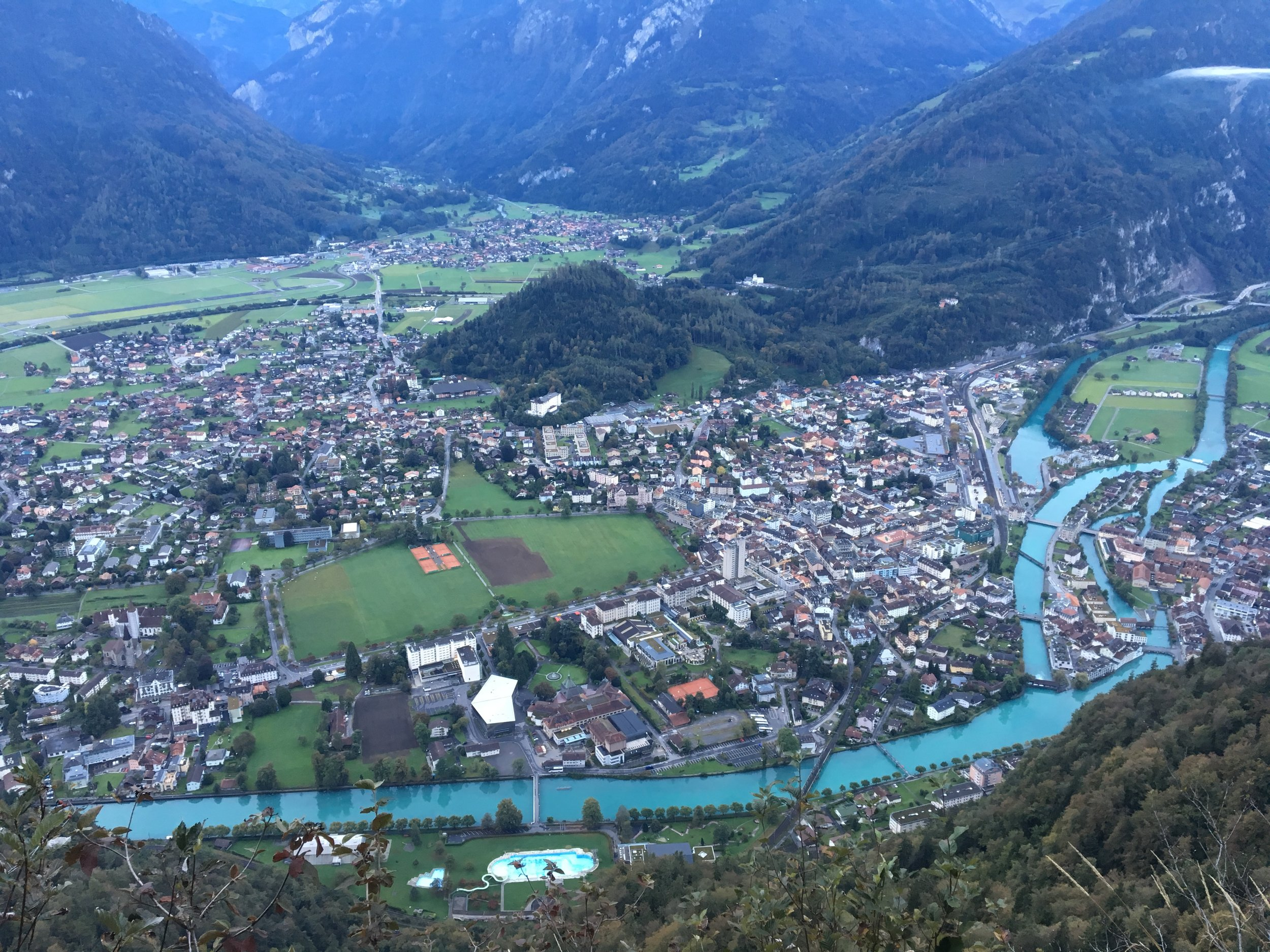 Interlaken from above