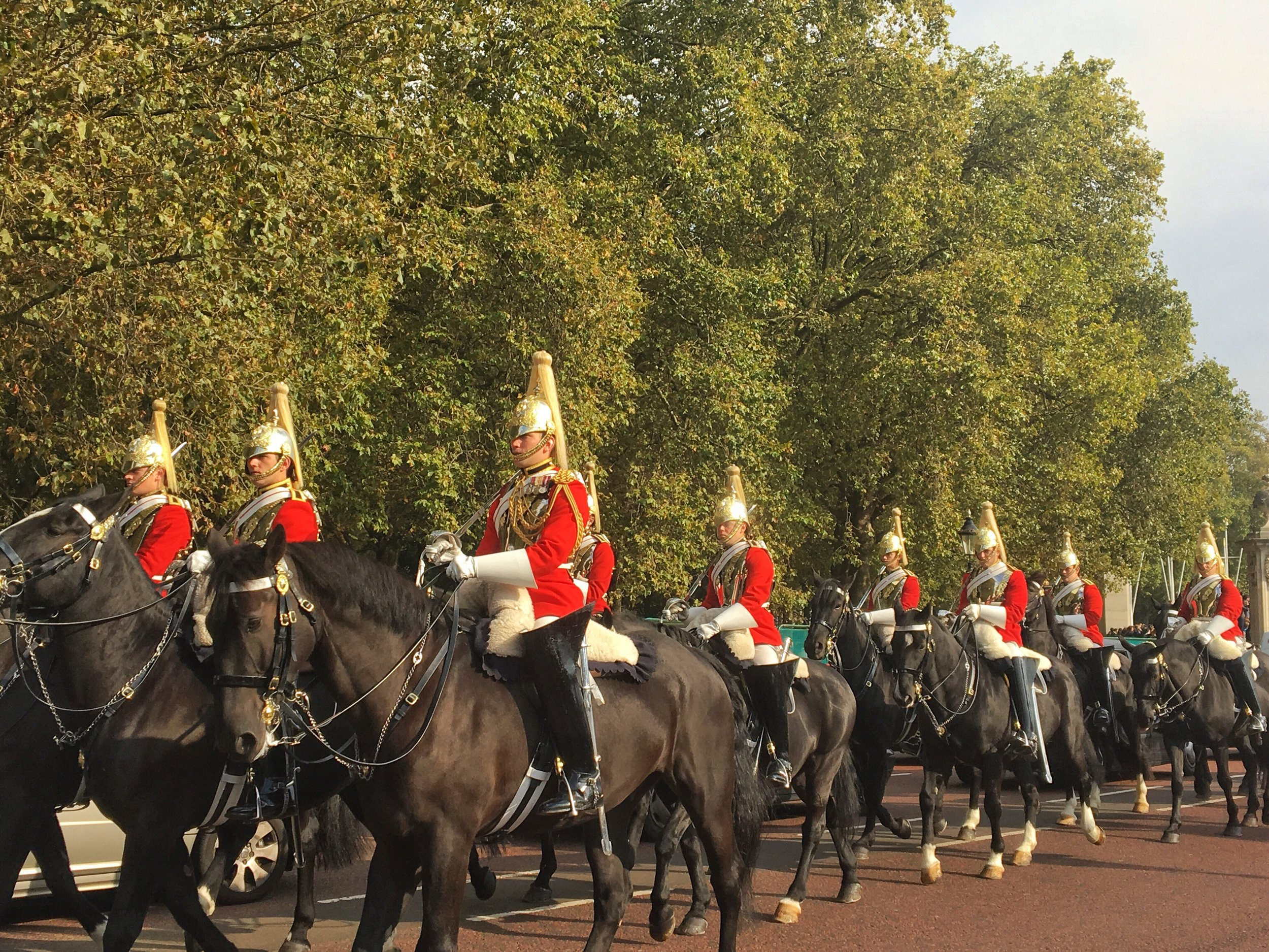 Riding in for the changing of the guard