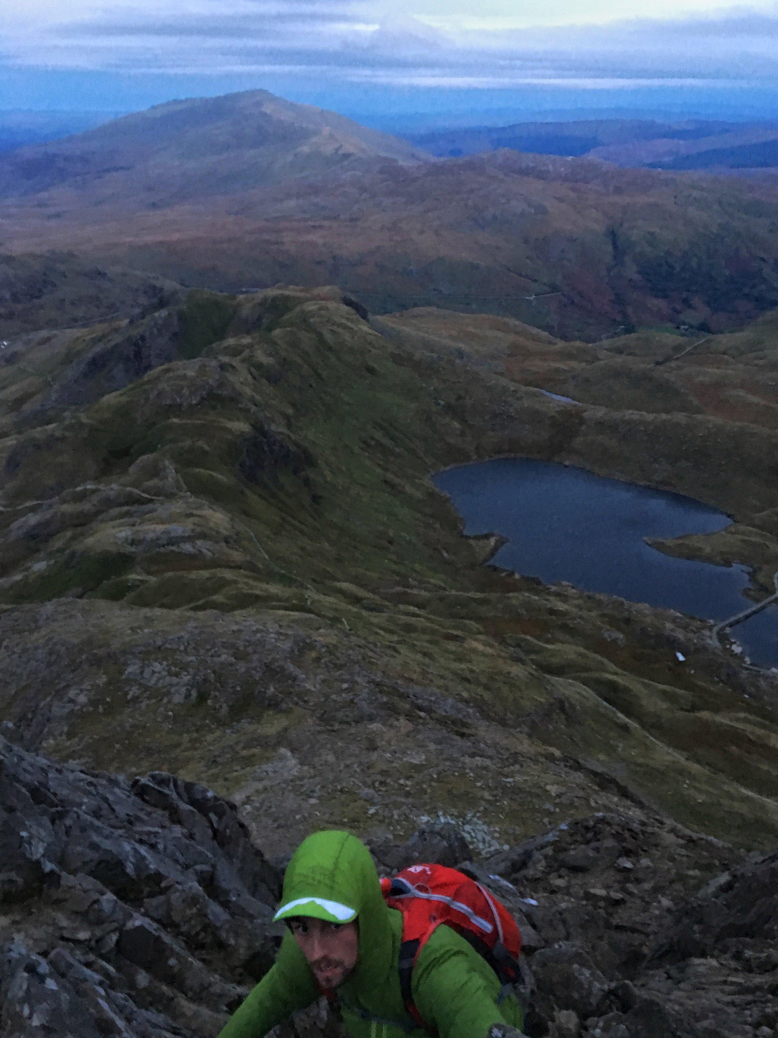 Climbing up Snowdon