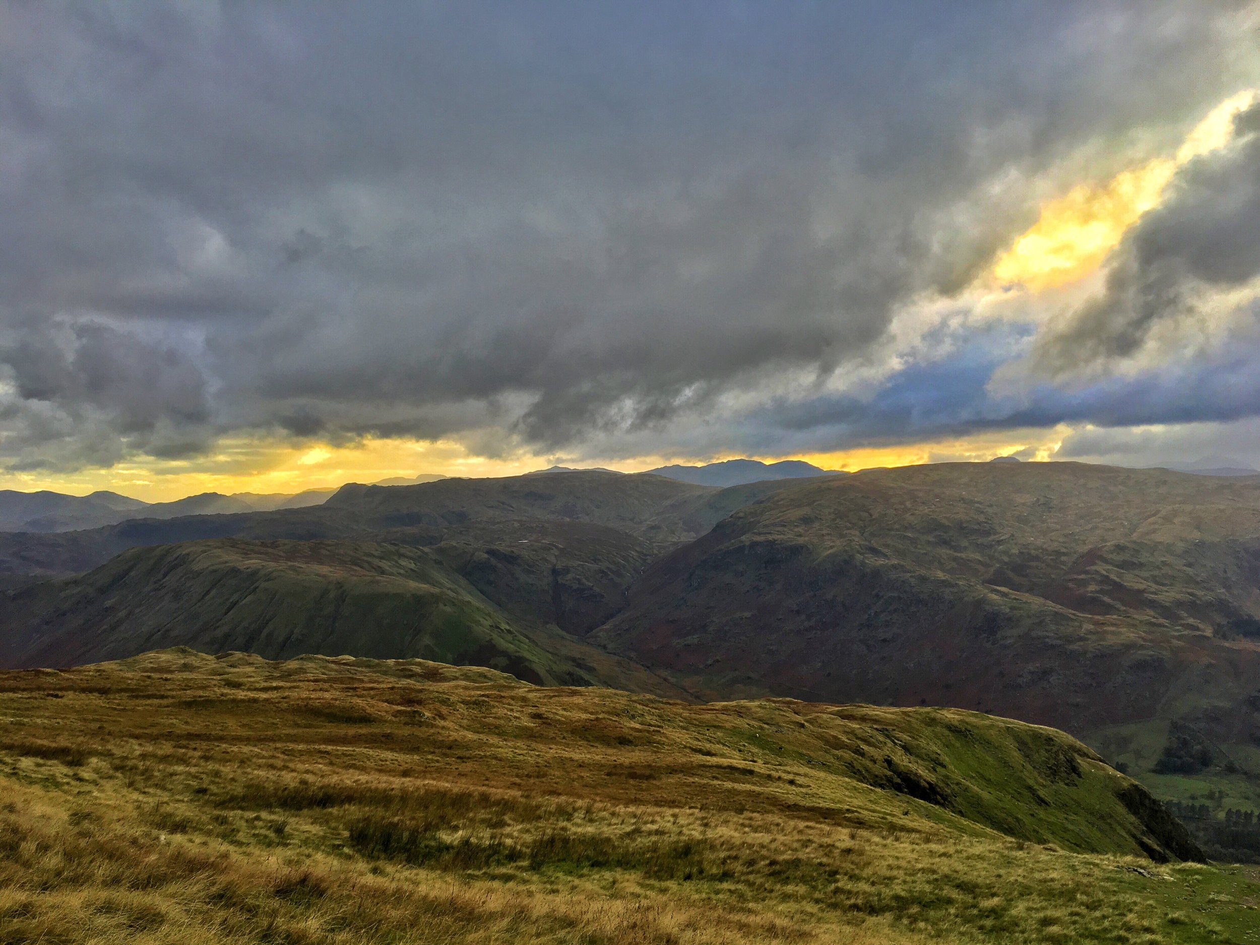 View climbing up Helvellyn in Northern England