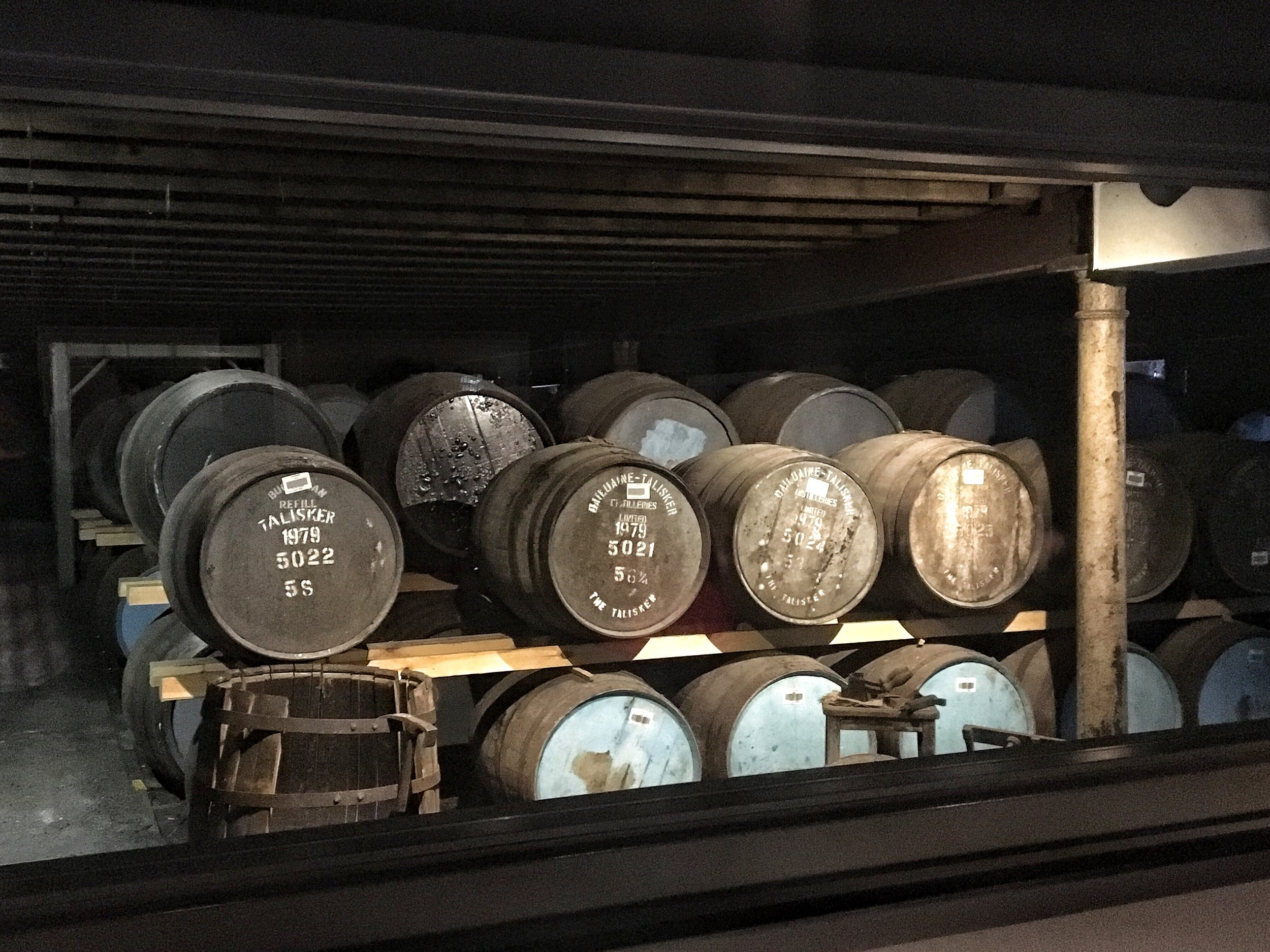 Barrels and barrels of Scotch