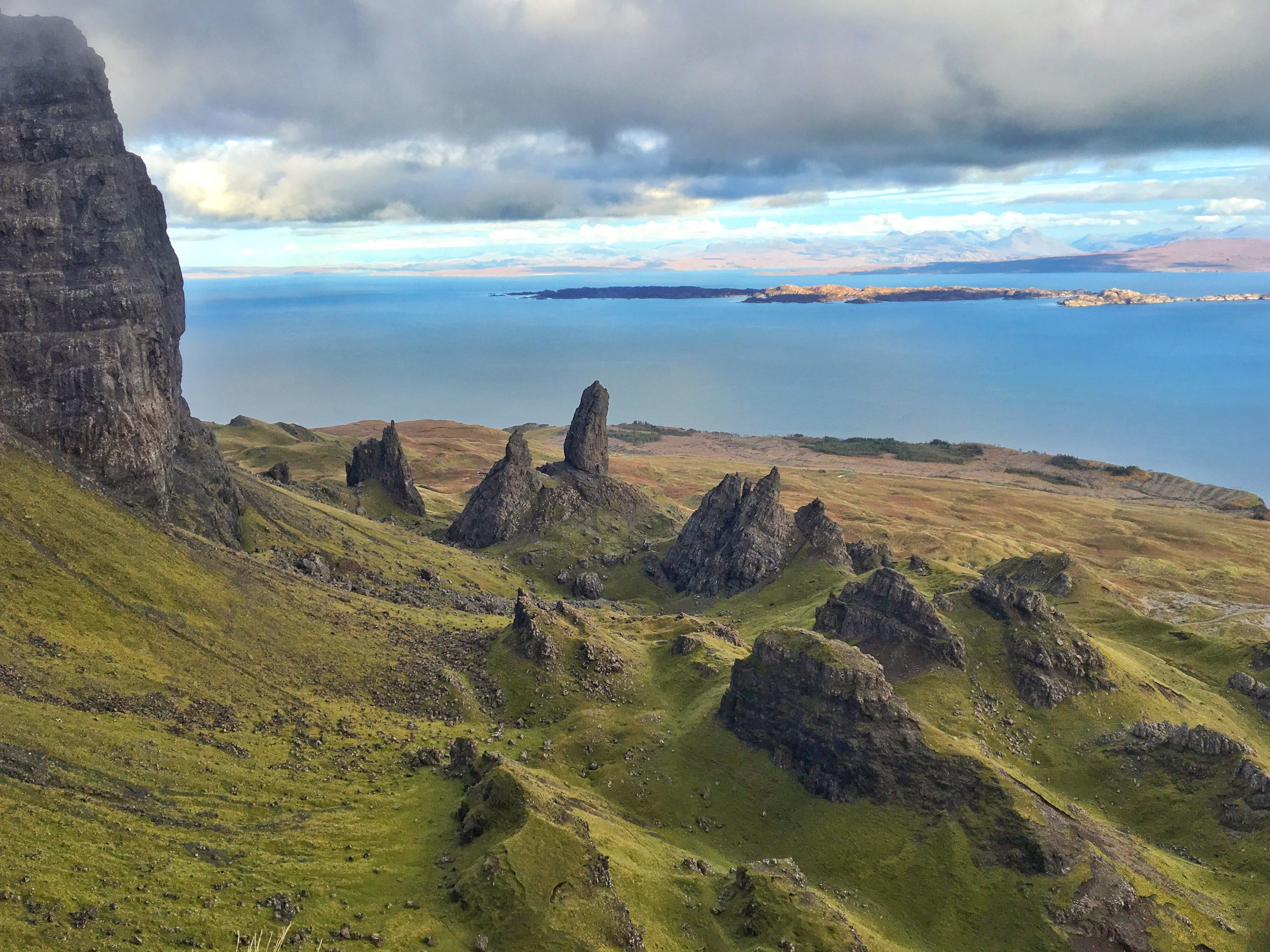 The Old Man of Storr from above