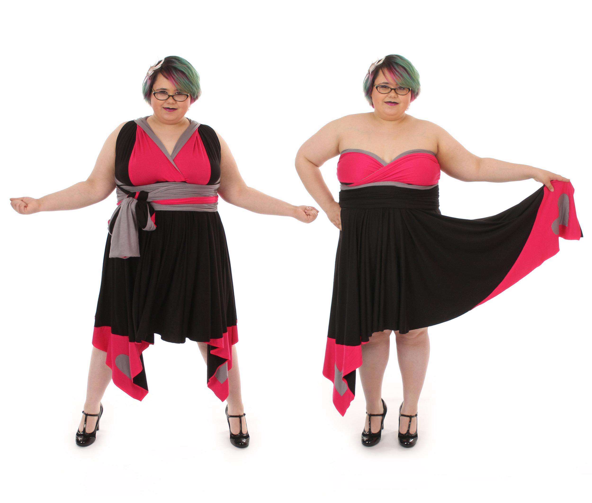 Robot TV Host Inspired Convertible Dress