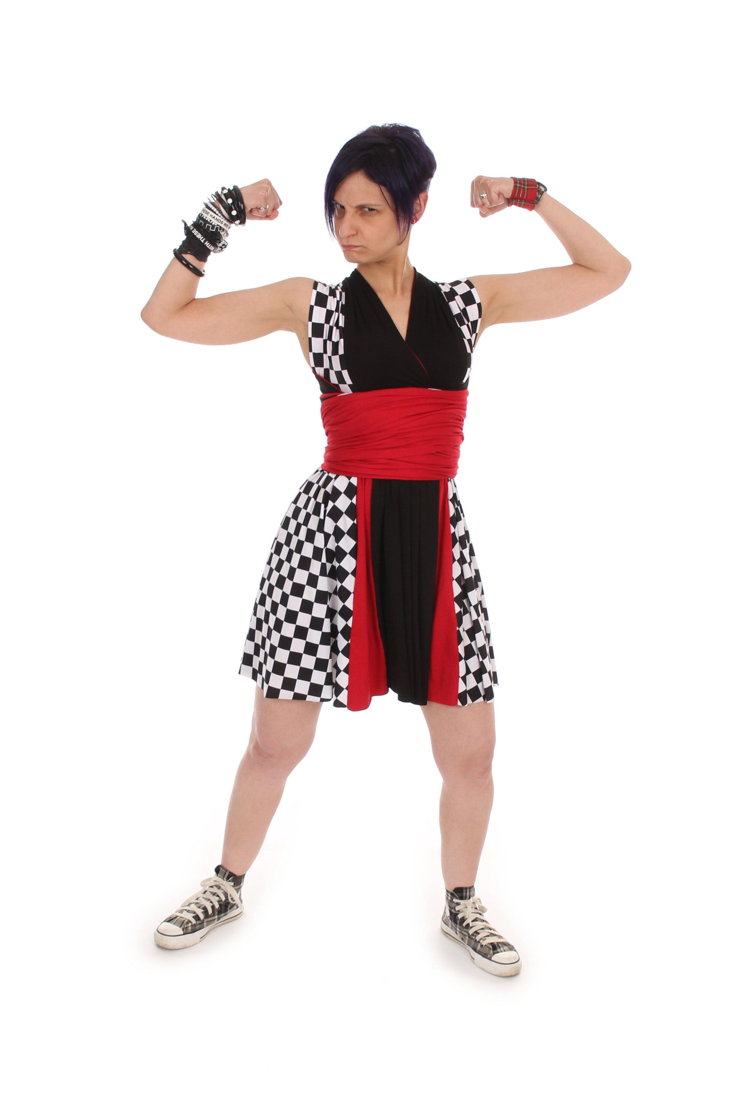 Ska Wrestler Inspired Convertible Dress