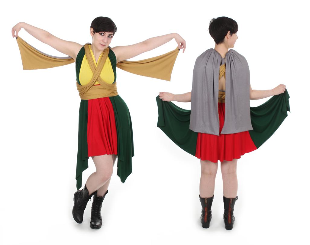 Nth Metal Hero Inspired Convertible Dress
