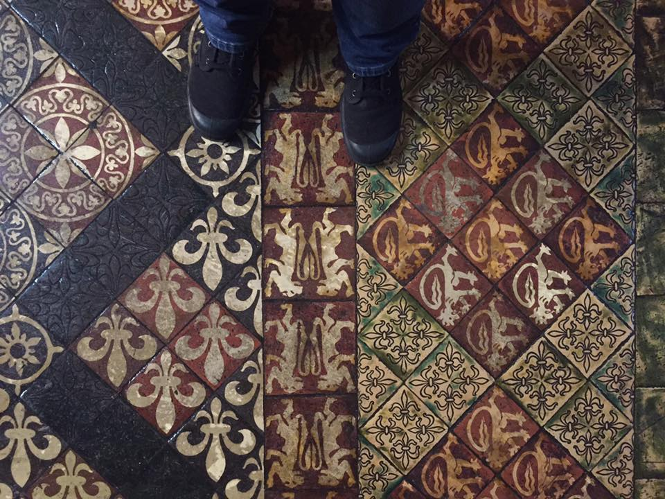 In love with the floor at Christchurch cathedral.