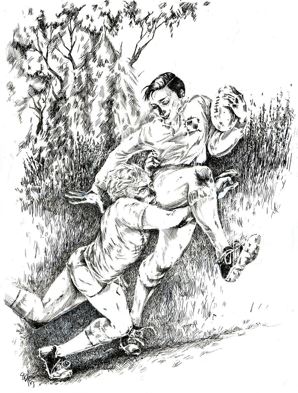 spot illustration for 'ollie'