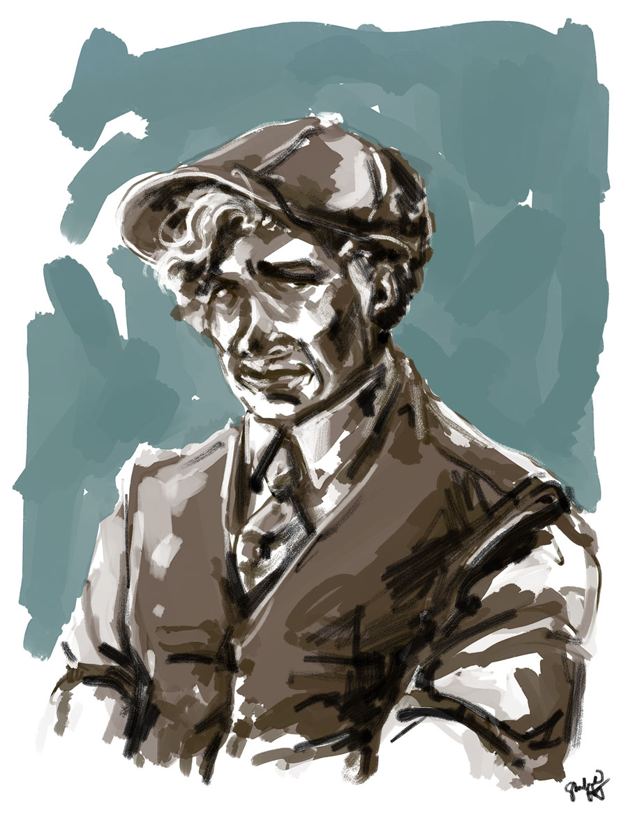 daily doodle -- newsboy hat and waistcoat circa 1922