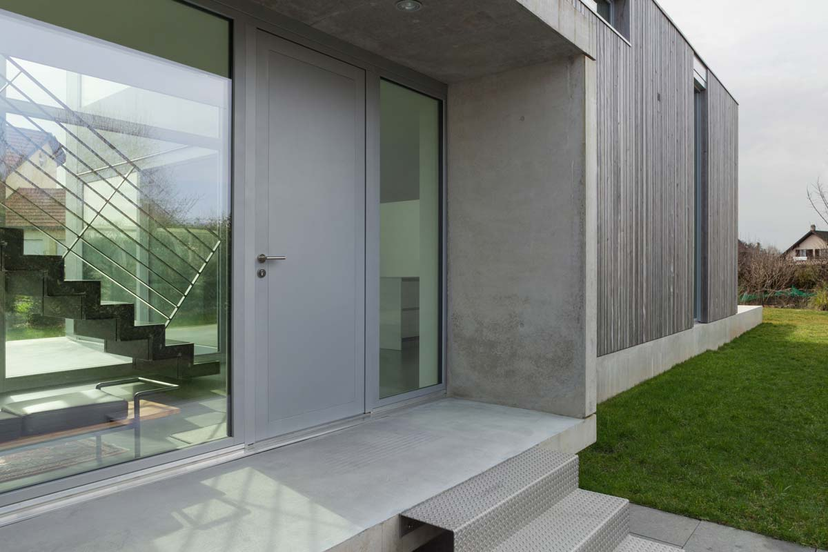 modern home with recycled timber cladding