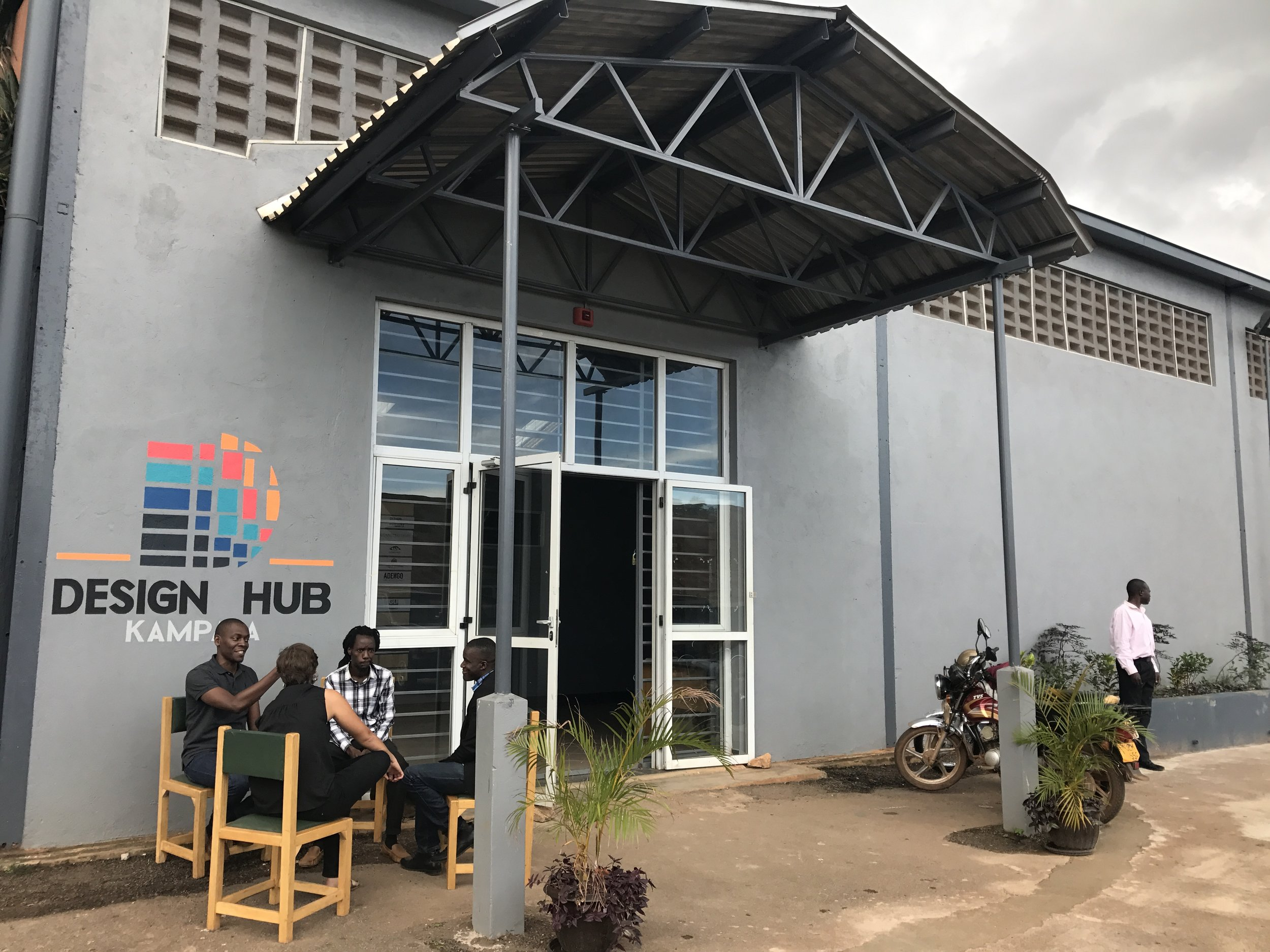One of the new co-working spaces, Design Hub, I visited in Kampala, Uganda.