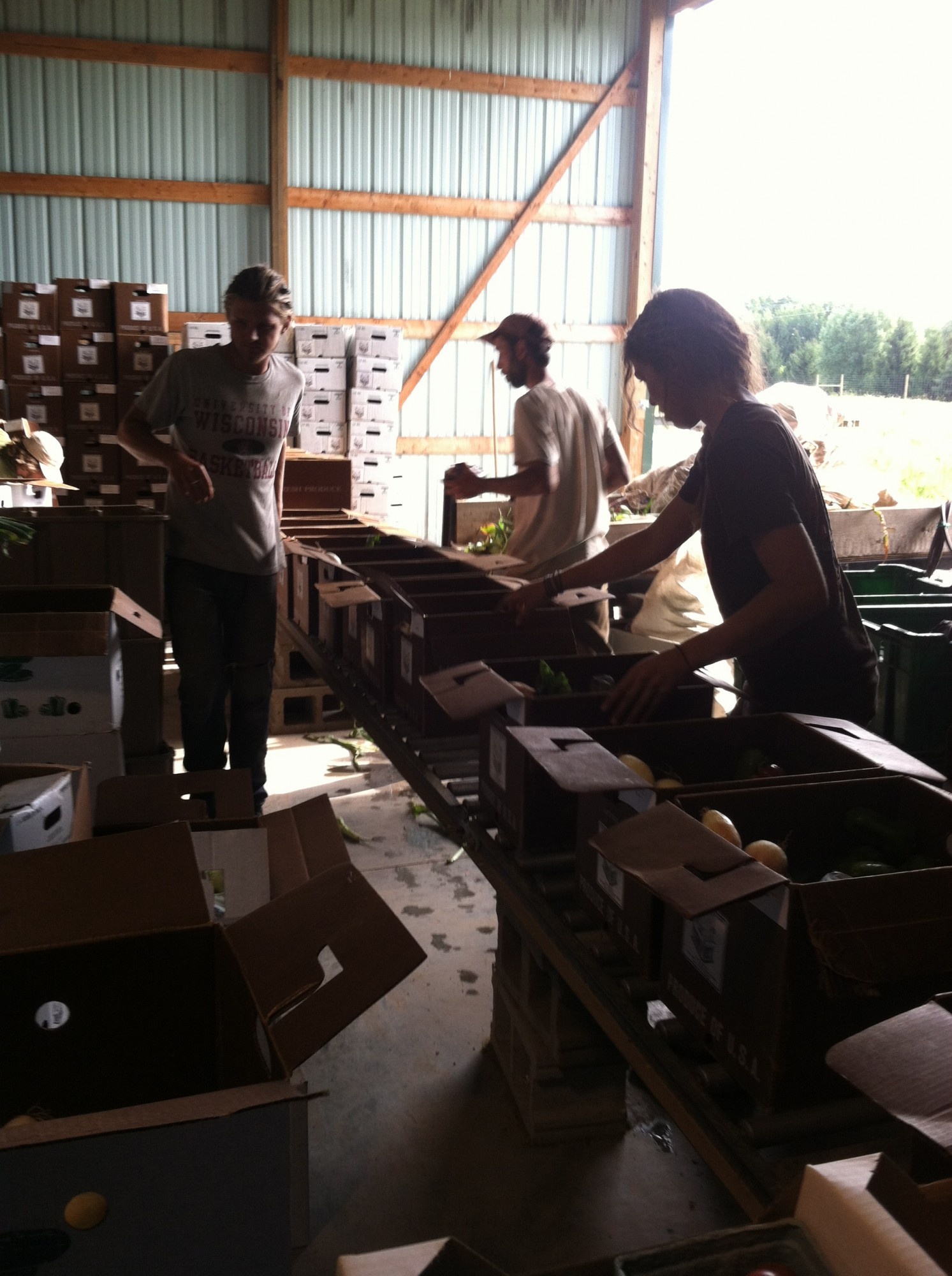 box packing time