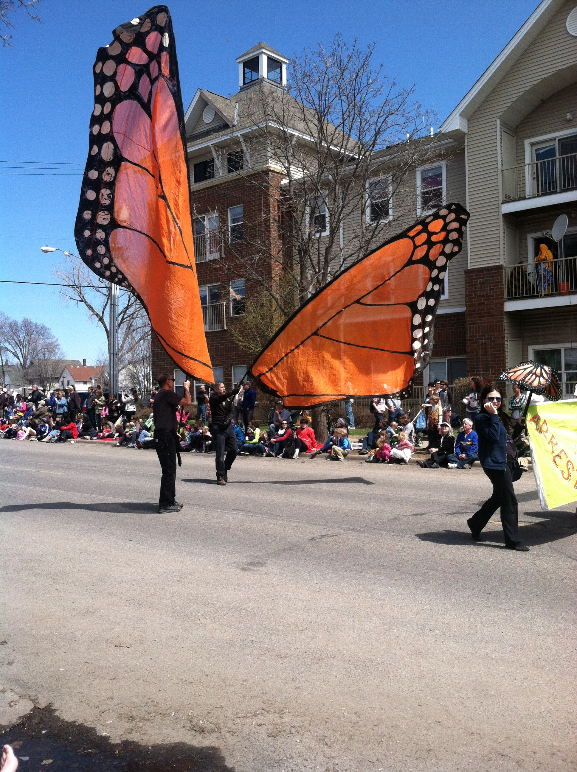 and we made it to the May Day Parade