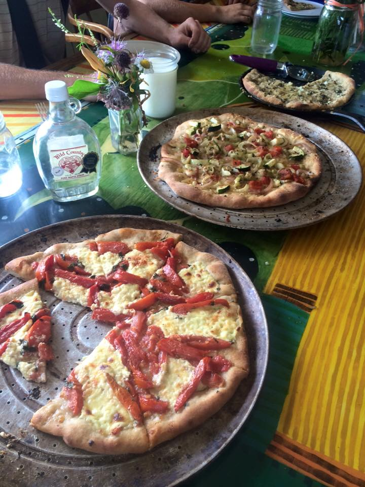 pizza Friday on the farm