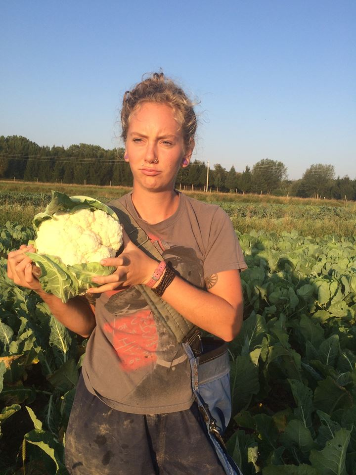Haley and the cauliflower
